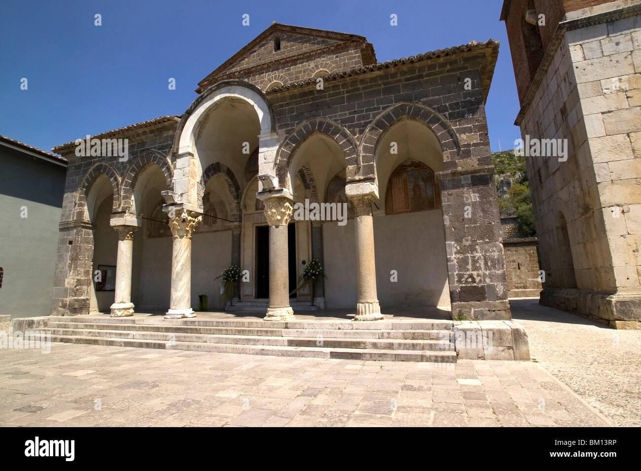 Basilica of Sant Angelo in Formis, Capua, Campania, Italy, Europe Stock Photo