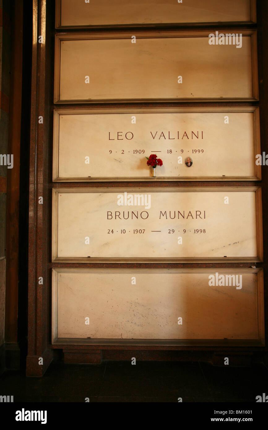 The Famedio Building, Monumental Cemetery, Architect Carlo Maciachini, Milan, Lombardy, Italy, Europe Stock Photo