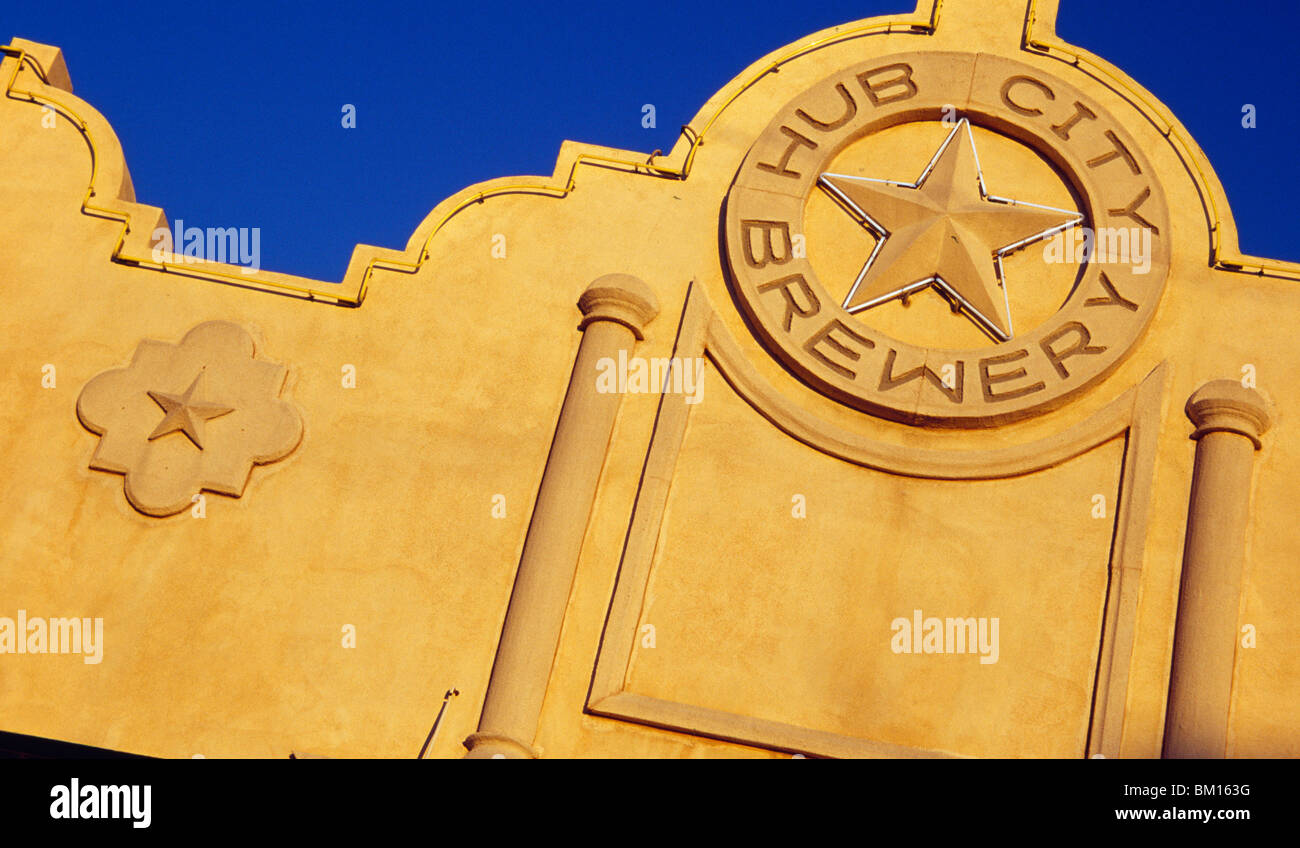 Low angle view of a building, Hub City Brewery, Lubbock, Texas, USA