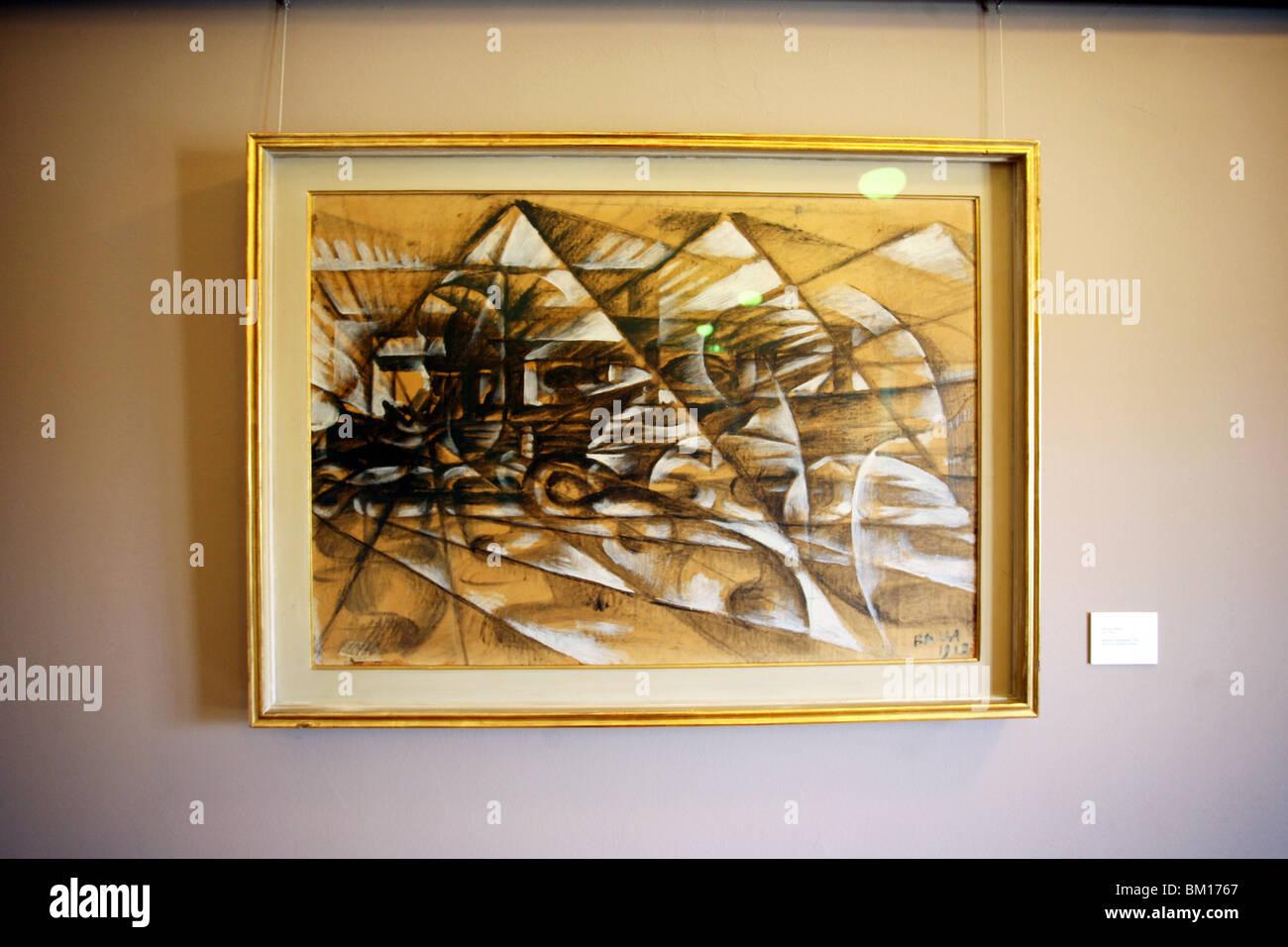 Giacomo Balla, Carlo Grassi collection, Modern Art Museum, Villa Reale, Galleria d'Arte Moderna, Milan, Lombardy, - Stock Image
