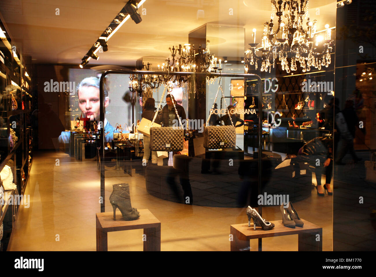 Dolce & Gabbana store, Corso Venezia 15 street, Milan, Lombardy, Italy, Europe - Stock Image