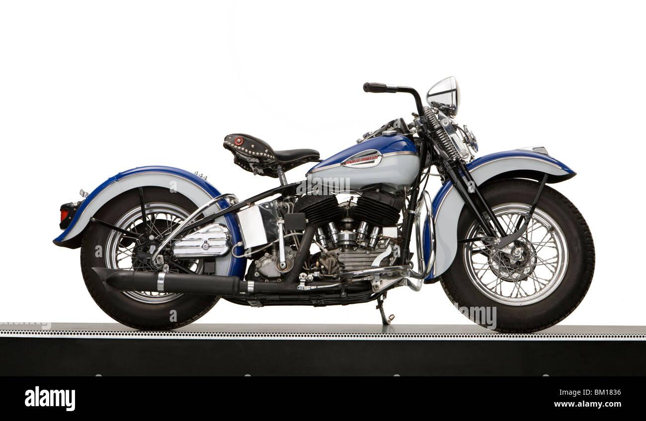 1940 Harley Davidson 74ci Model U motorcycle - Stock Image