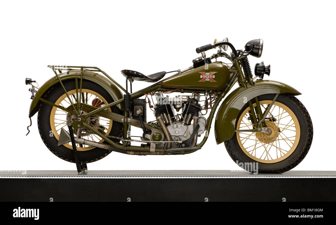 1930 Excelsior 750cc Super X, V Twin Motorcycle   Stock Image