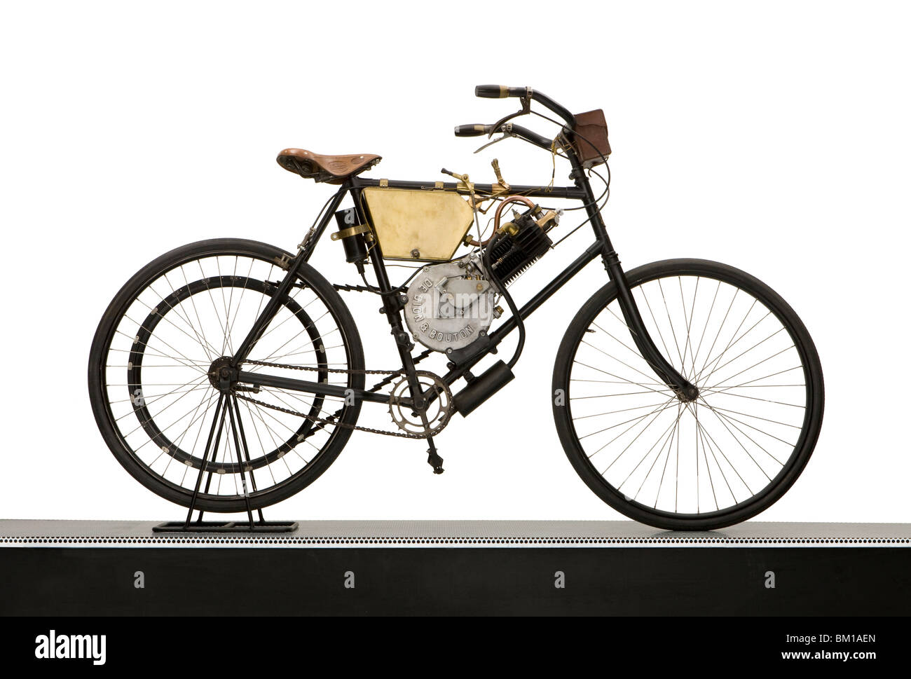 1900 De Dion Bouton-engined motorcycle - Stock Image