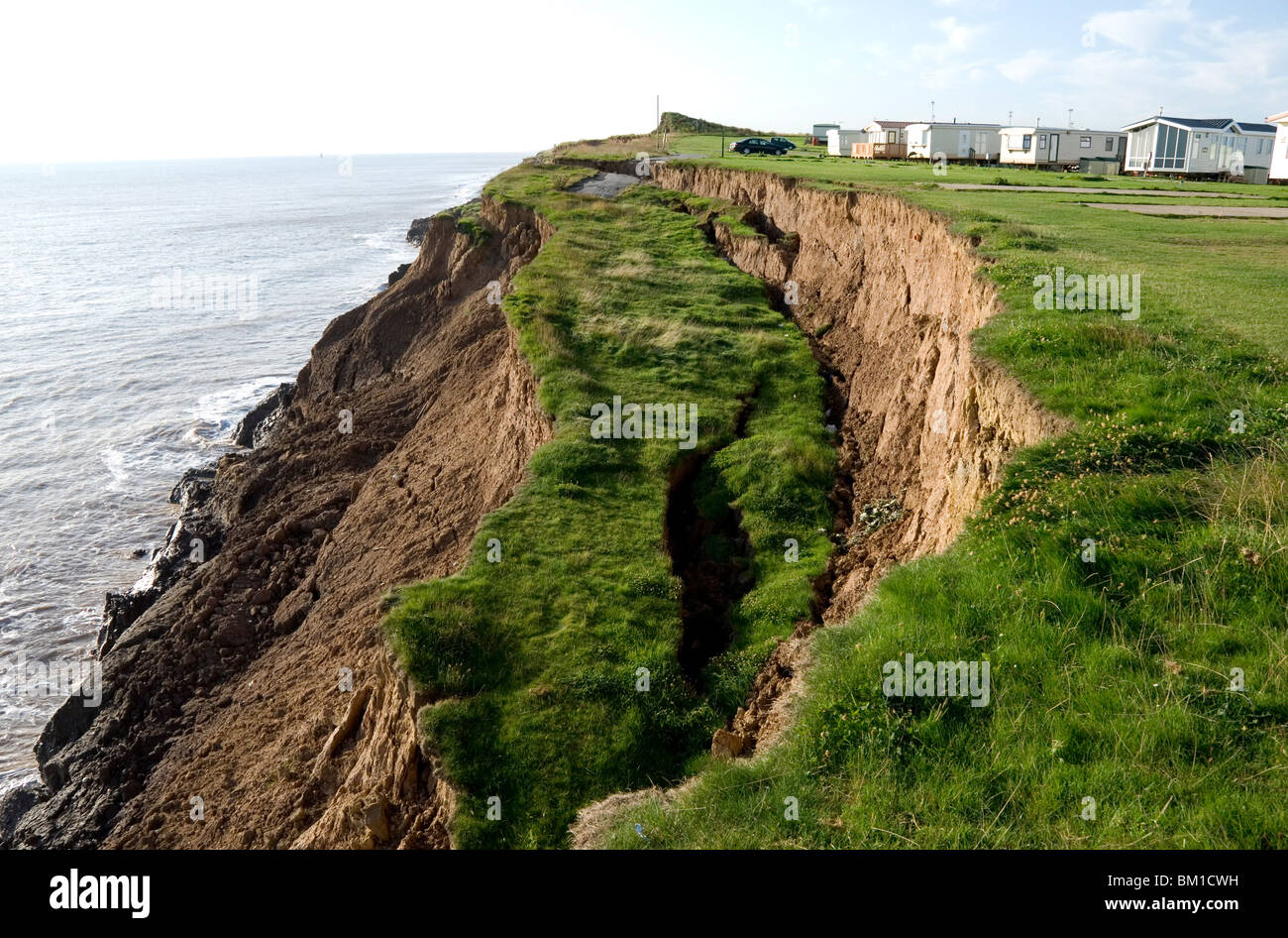 Coastal erosion with active landslips in glacial till aldbrough coastal erosion with active landslips in glacial till aldbrough holderness coast humberside england united kingdom europe thecheapjerseys Image collections