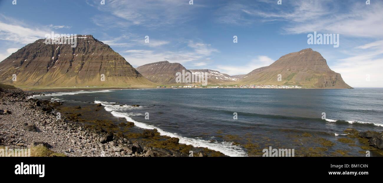 Bolungarvik, on Isafjordur, northwest area, Iceland, Polar Regions - Stock Image