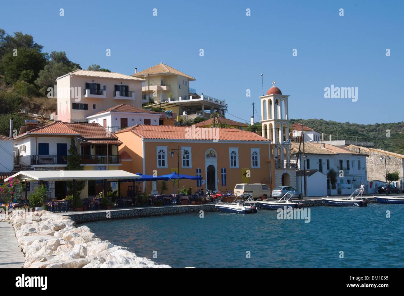 Vathi, Meganisi, Ionian Islands, Greek Islands, Greece, Europe - Stock Image