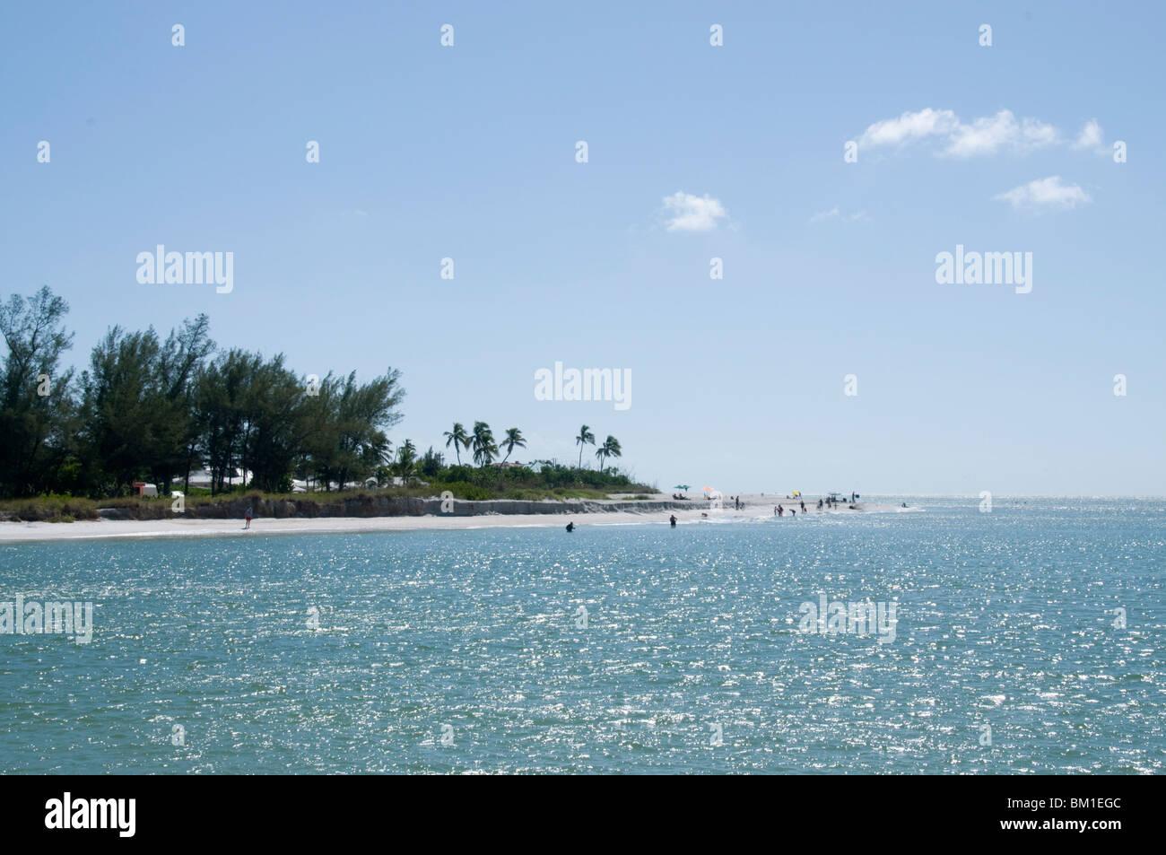 Beach, Sanibel Island, Gulf Coast, Florida, United States of America, North America - Stock Image