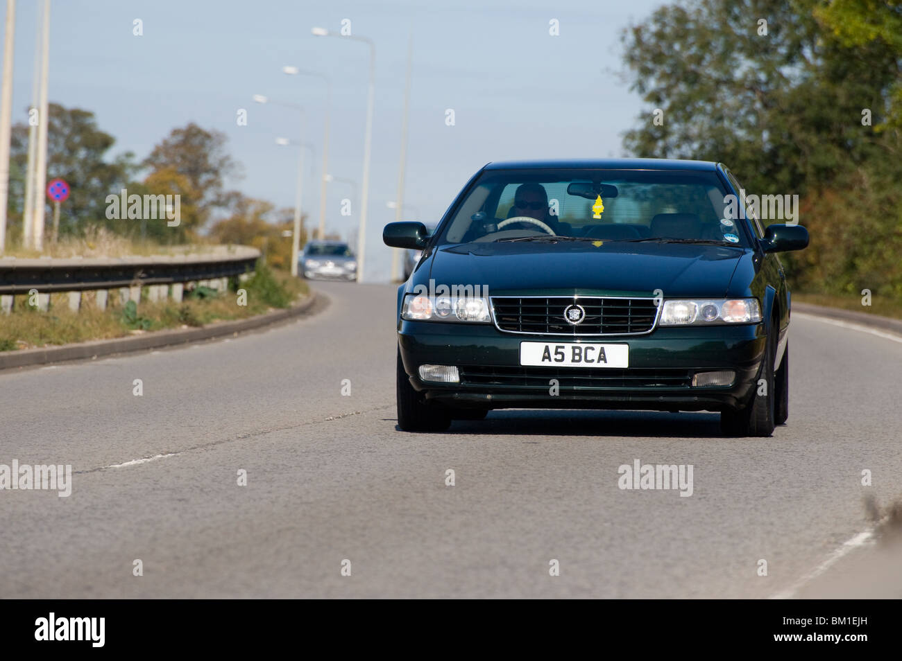 Car being driven on a dual carriageway in England. - Stock Image
