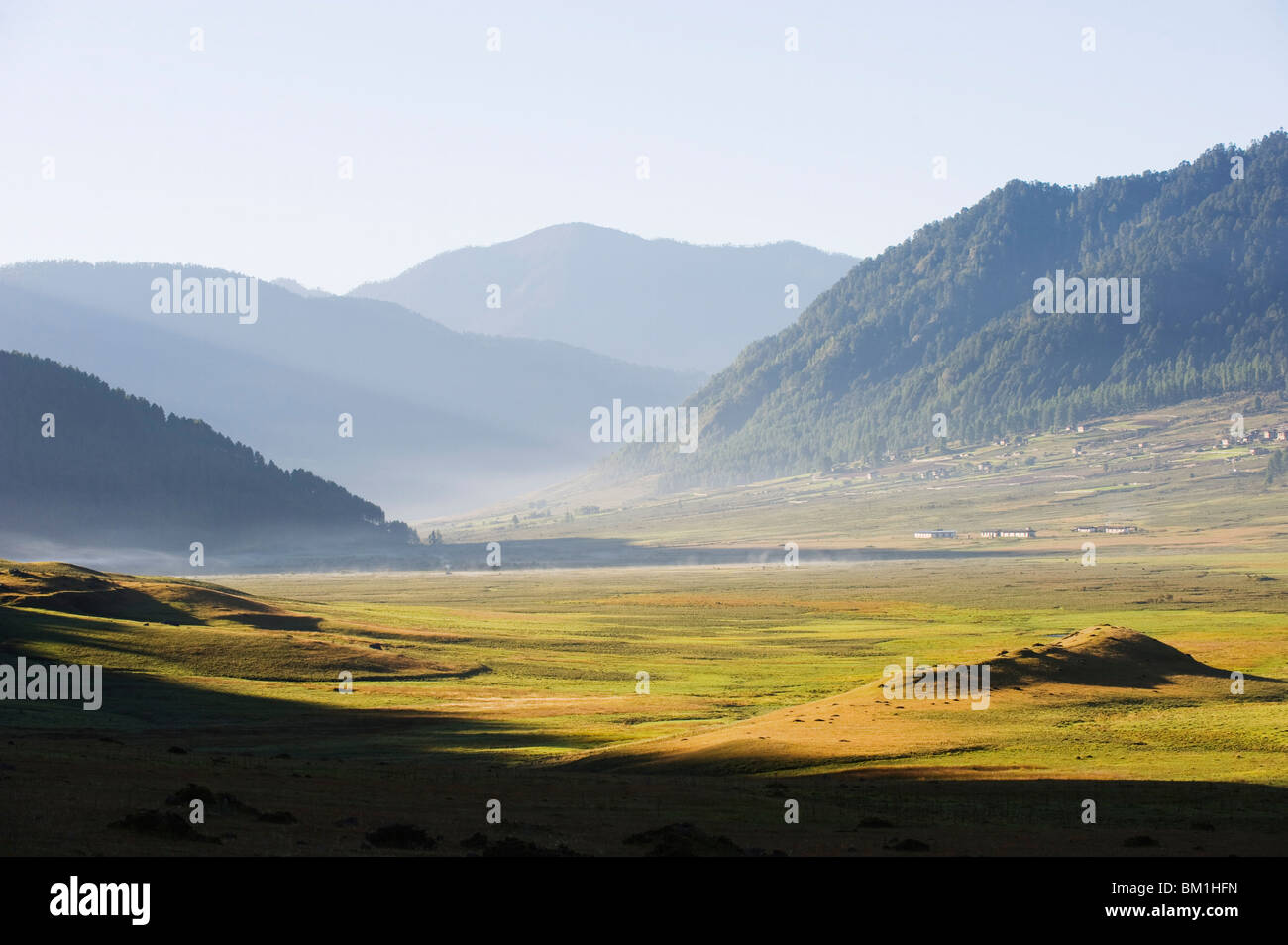 Phobjikha Valley, Bhutan, Himalayas, Asia - Stock Image