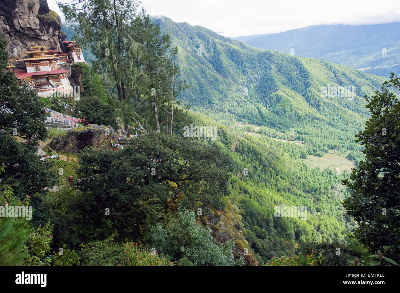 Tigers Nest (Taktsang Goemba), above Paro Valley, Bhutan, Asia - Stock Image