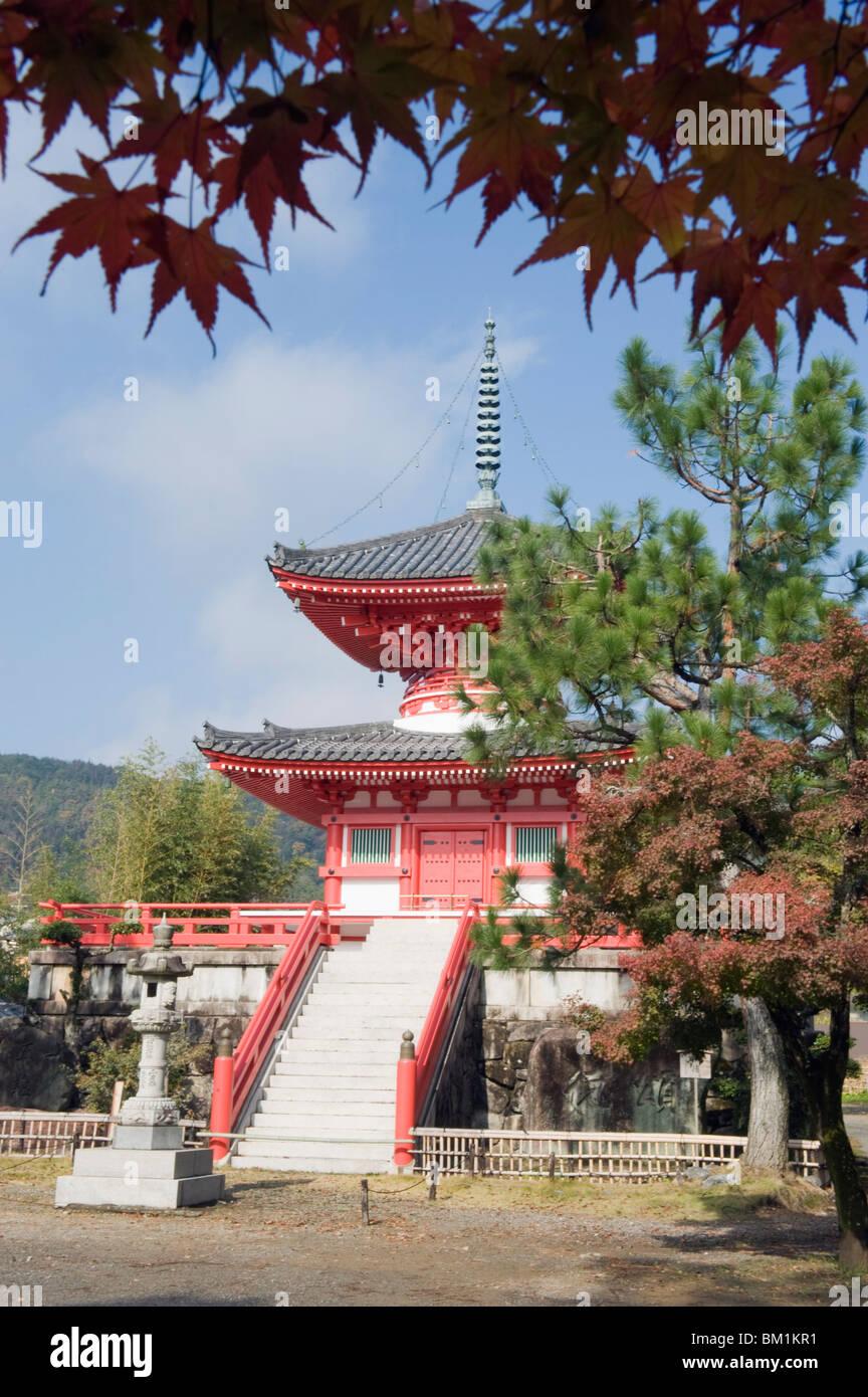 Autumn colours at Daikaku ji (Daikakuji) Temple, dating from 876, Sagano area, Kyoto, Japan, Asia Stock Photo