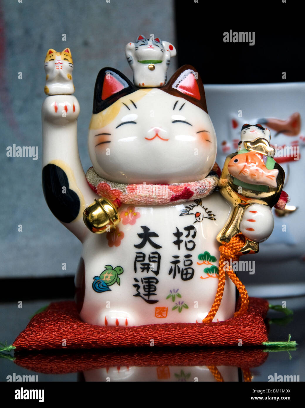Brussels Belgium China town cat Chinese porcelain Stock Photo
