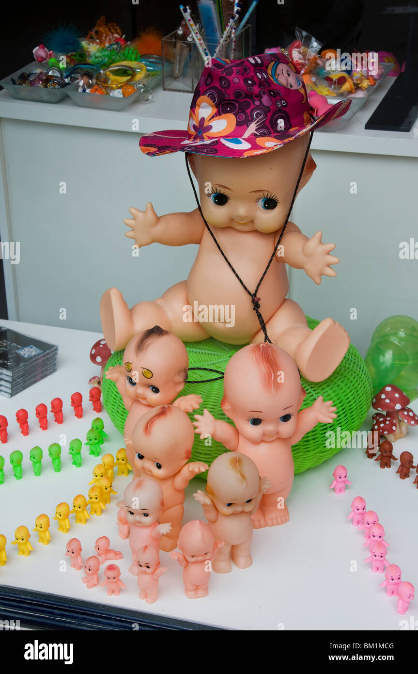 Brussels Belgium Doll puppets dolls puppet baby Babies - Stock Image