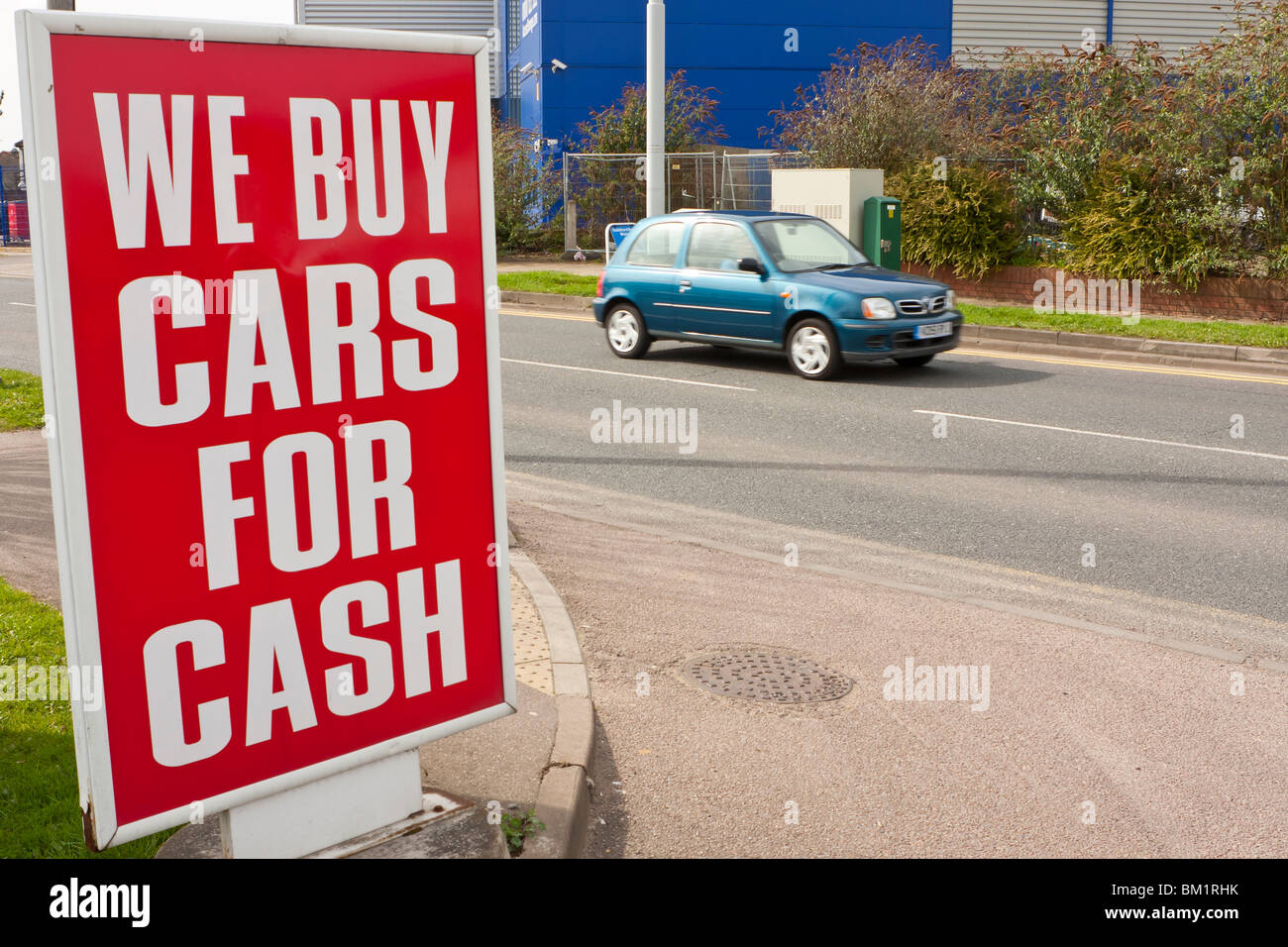 We buy cars for cash sign Stock Photo: 29543967 - Alamy