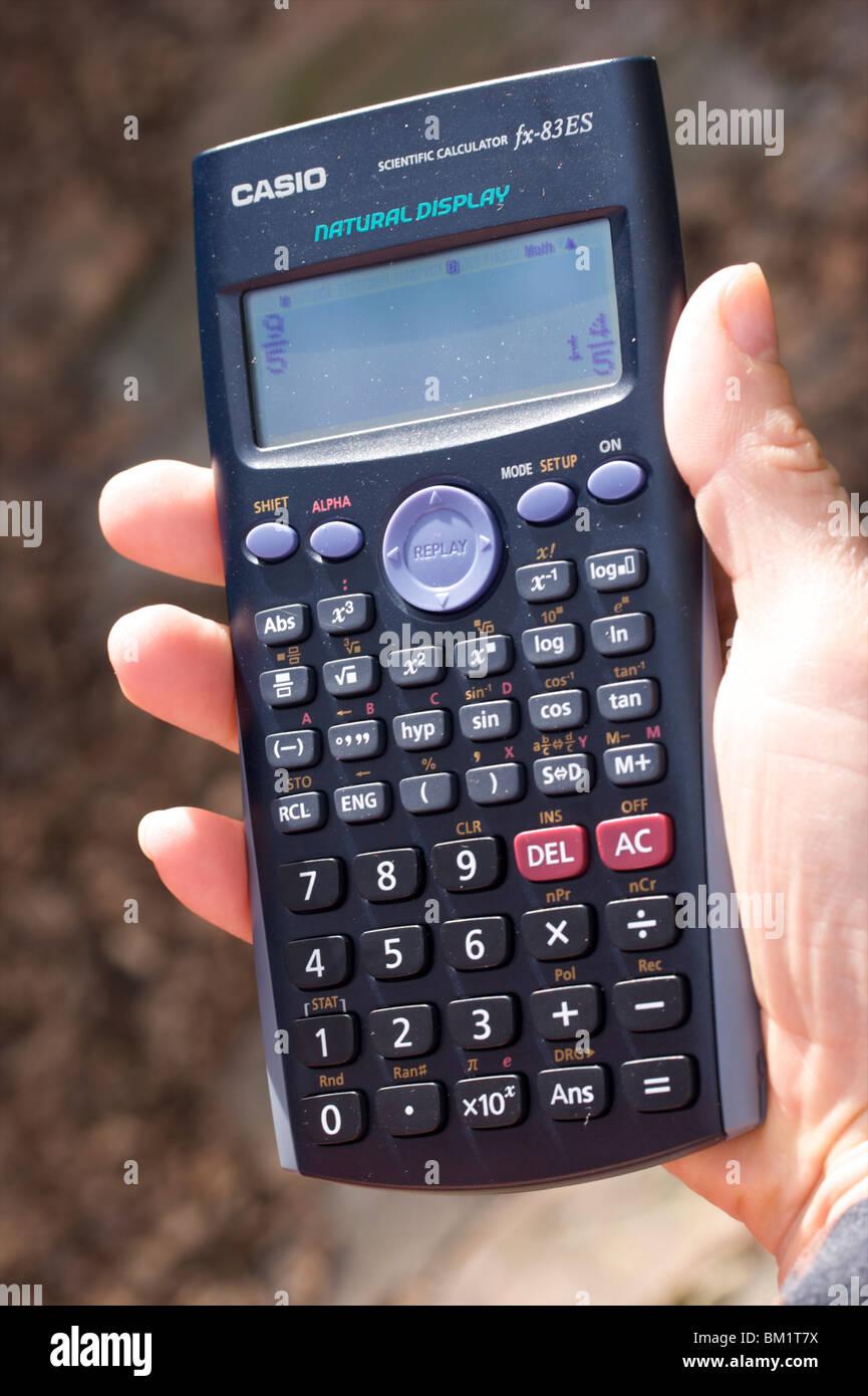 A Casio fx83 calculator. Recommended by some examination boards as suitable for GCSE Maths - Stock Image