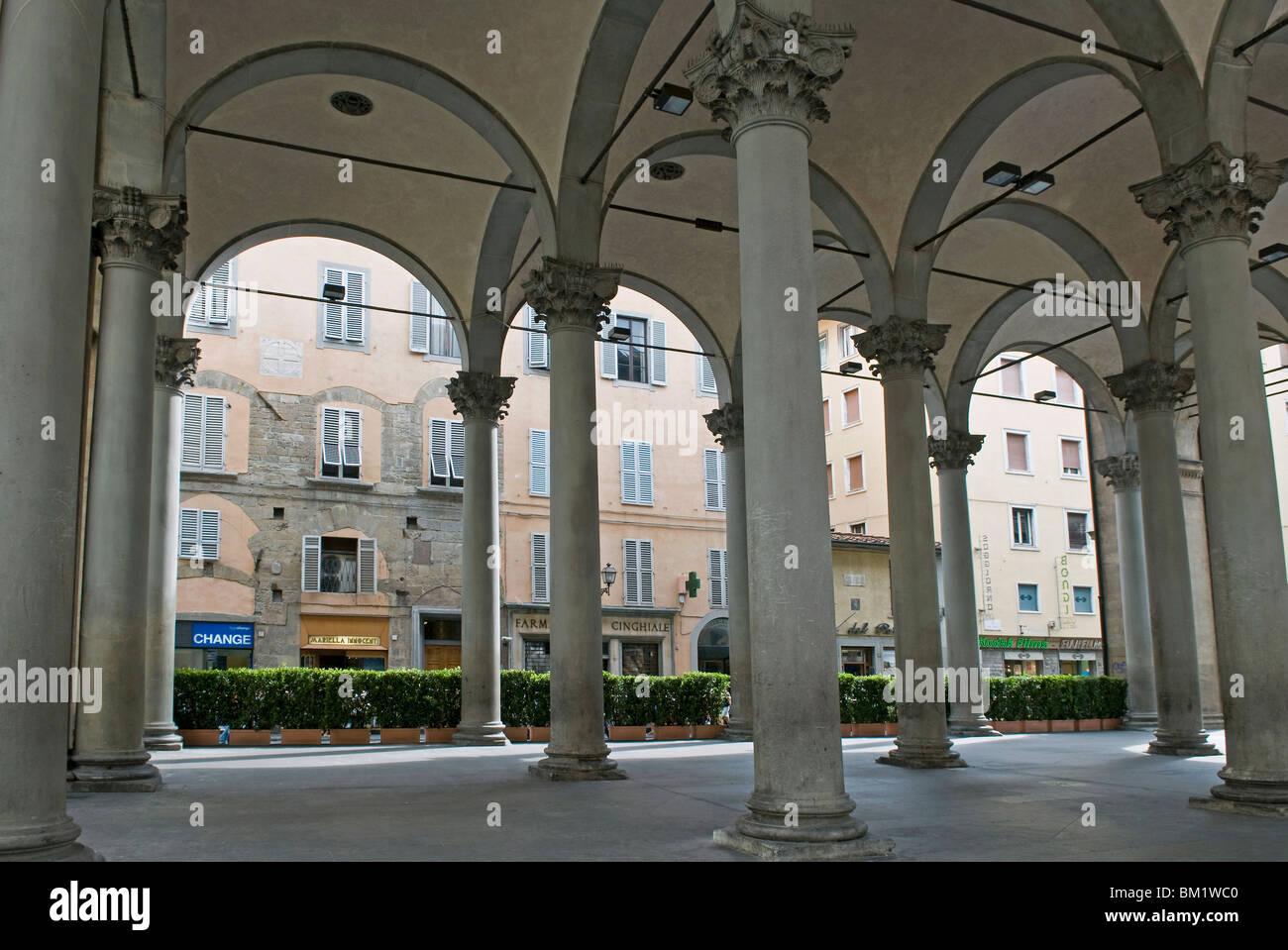 Loggia del Mercato Nuovo (Loggia del Porcellino), Florence, UNESCO World Heritage Site, Tuscany, Italy - Stock Image