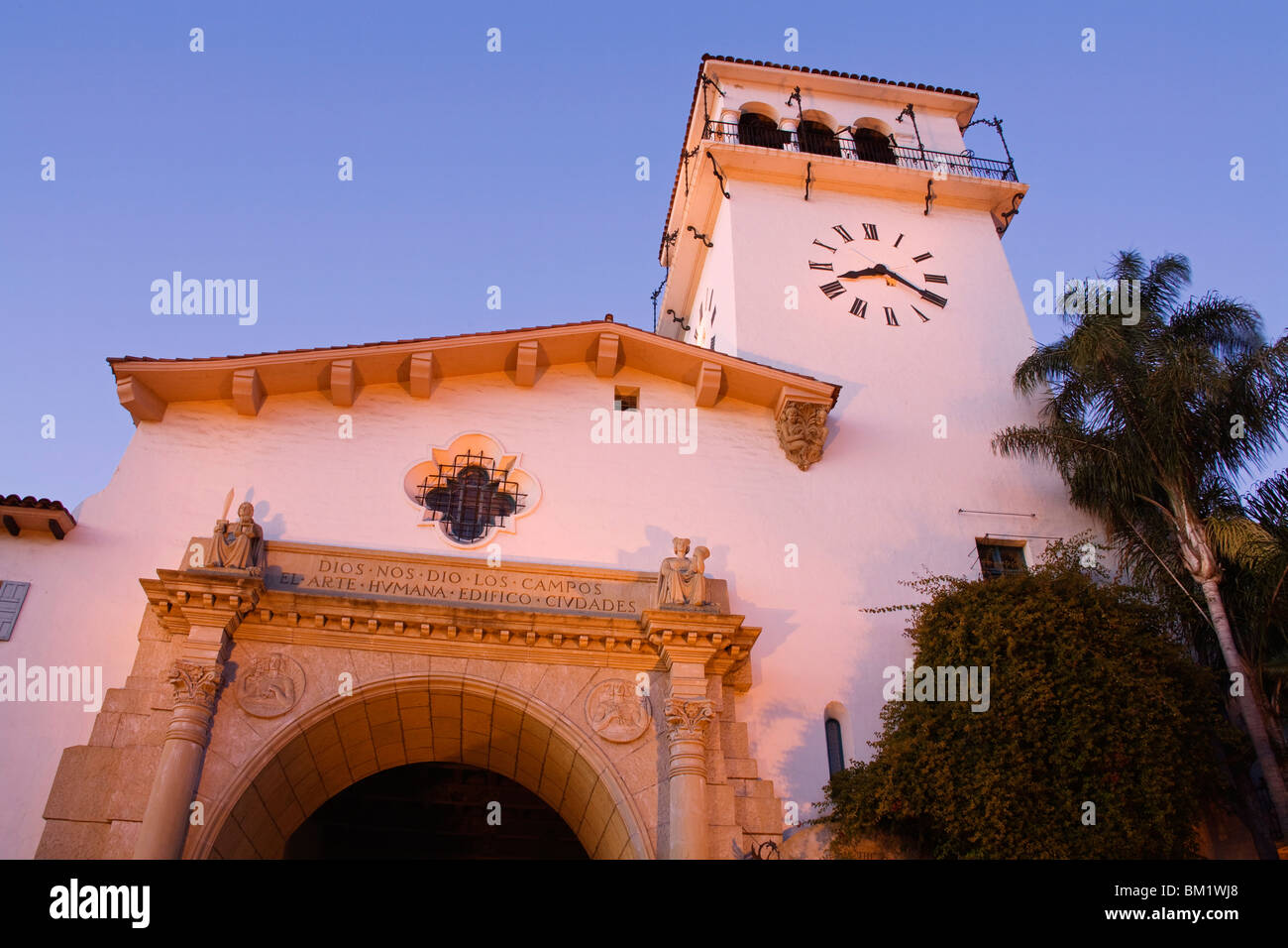 Santa Barbara County Courthouse, Santa Barbara, California, United States of America, North America - Stock Image