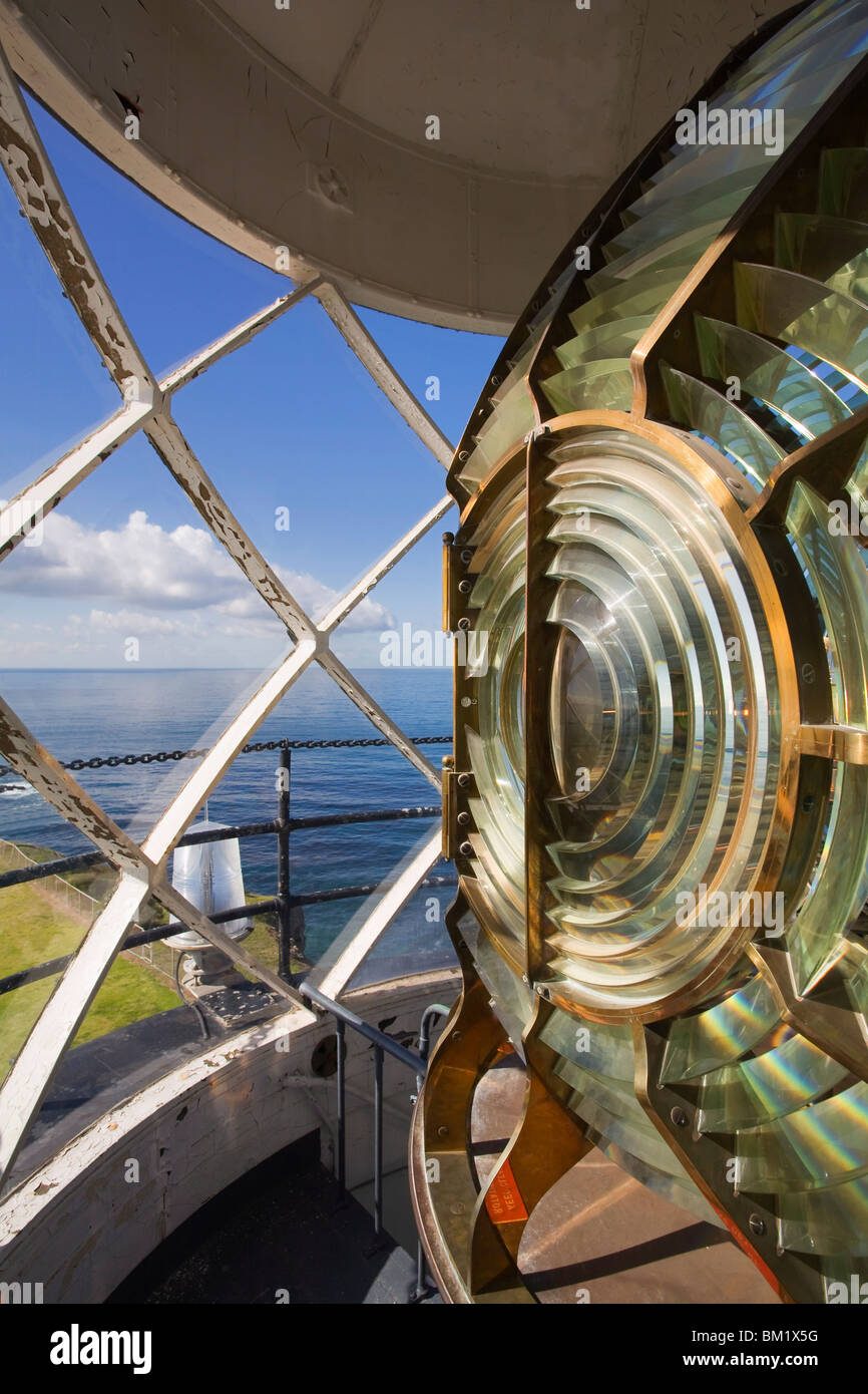 Point Vincente Lighthouse lens, Palos Verdes Peninsula, Los Angeles, California, United States of America, North - Stock Image