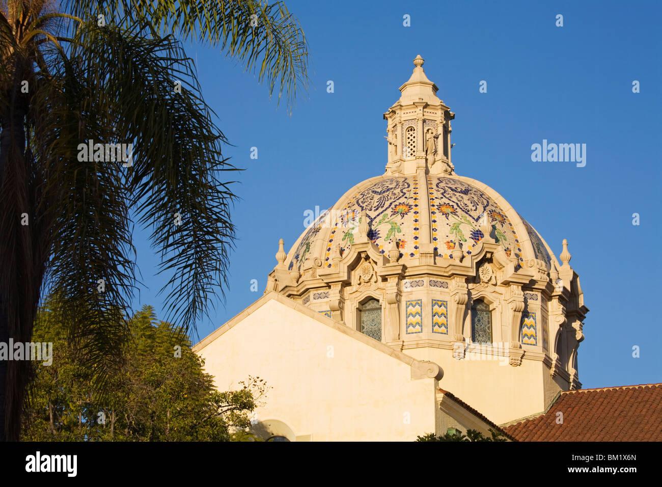 St. Vincent de Paul Catholic church, Figueroa Street, Los Angeles, California, United States of America, North America - Stock Image