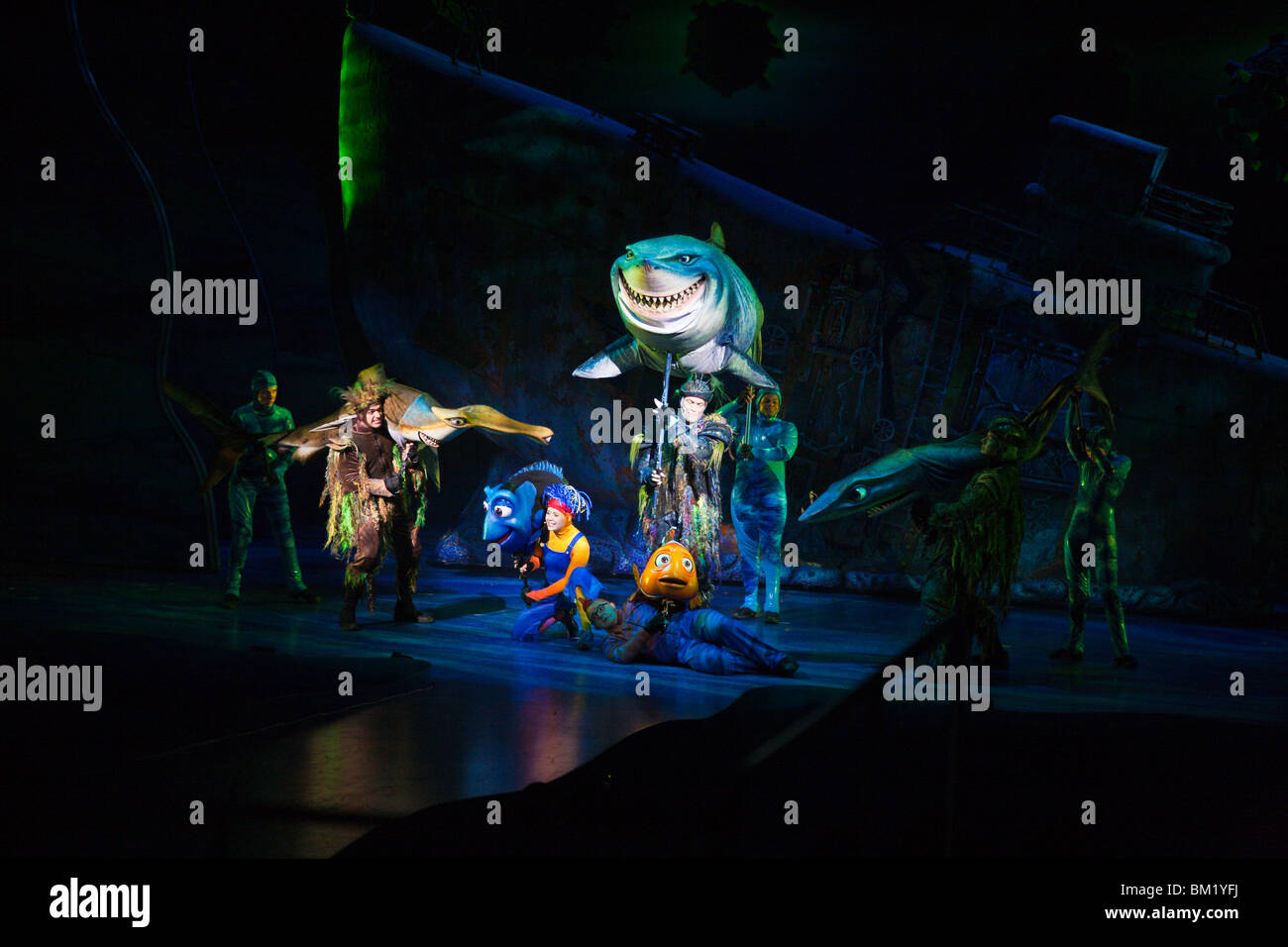 Orlando, FL - Jan 2009 - Finding Nemo - The Musical, features live performers and puppets at Disney's Animal - Stock Image