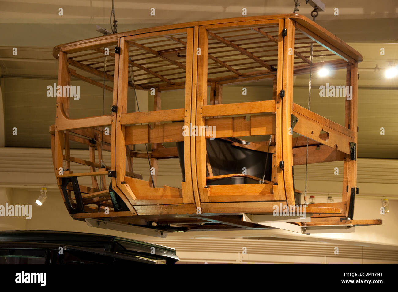 Wood Frame of Old Car - Stock Image