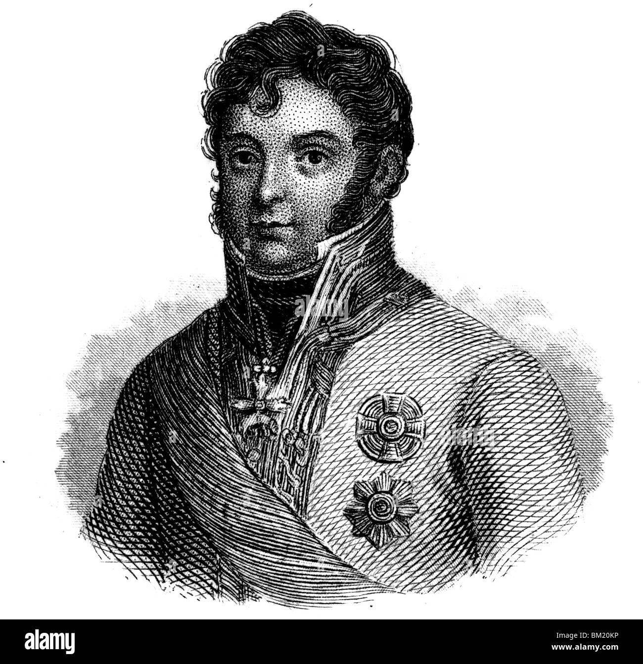 Karl Philipp, Prince of Schwarzenberg - Stock Image