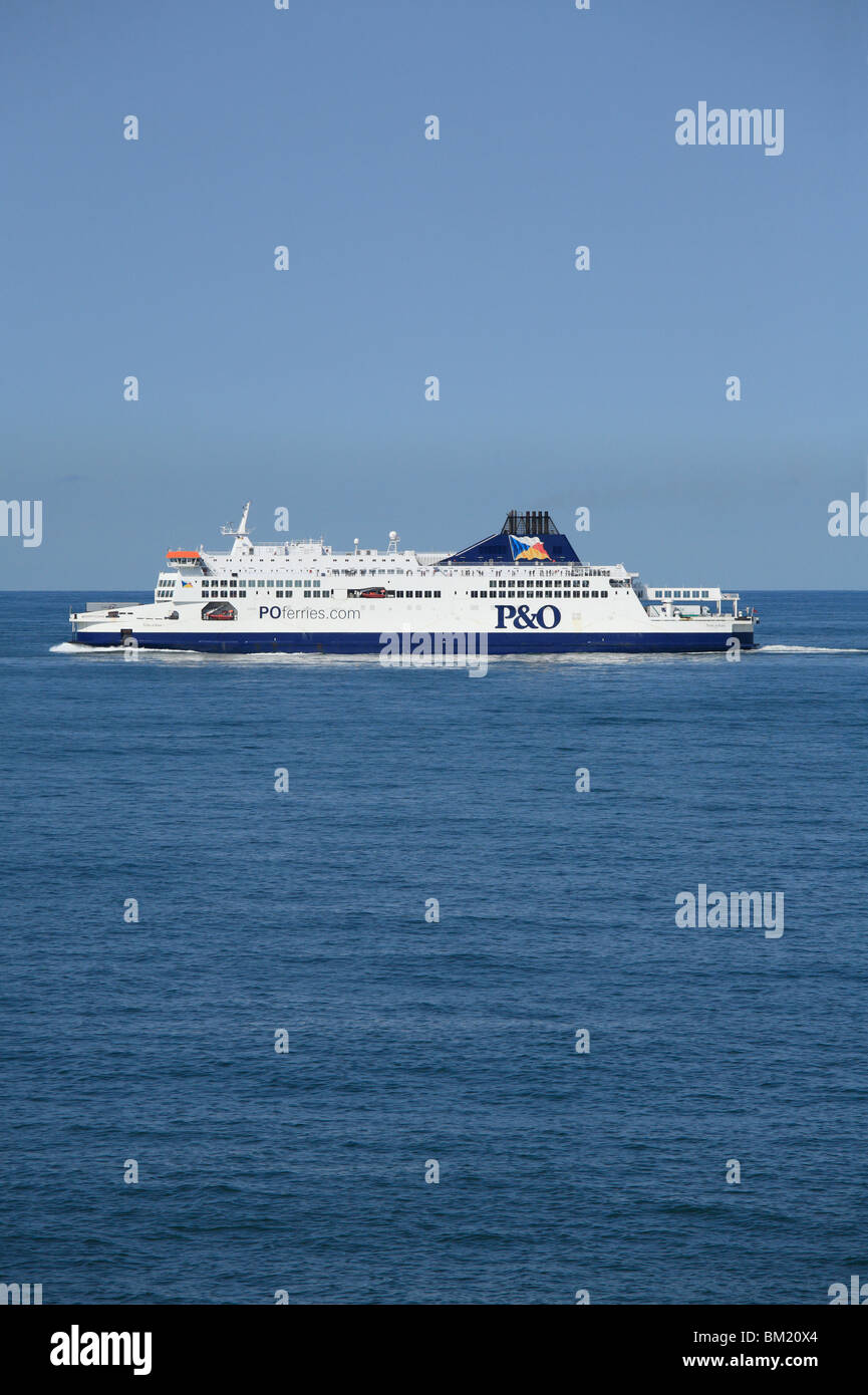 P&O Ferries, Pride of Kent, sailing from Calais to Dover. - Stock Image
