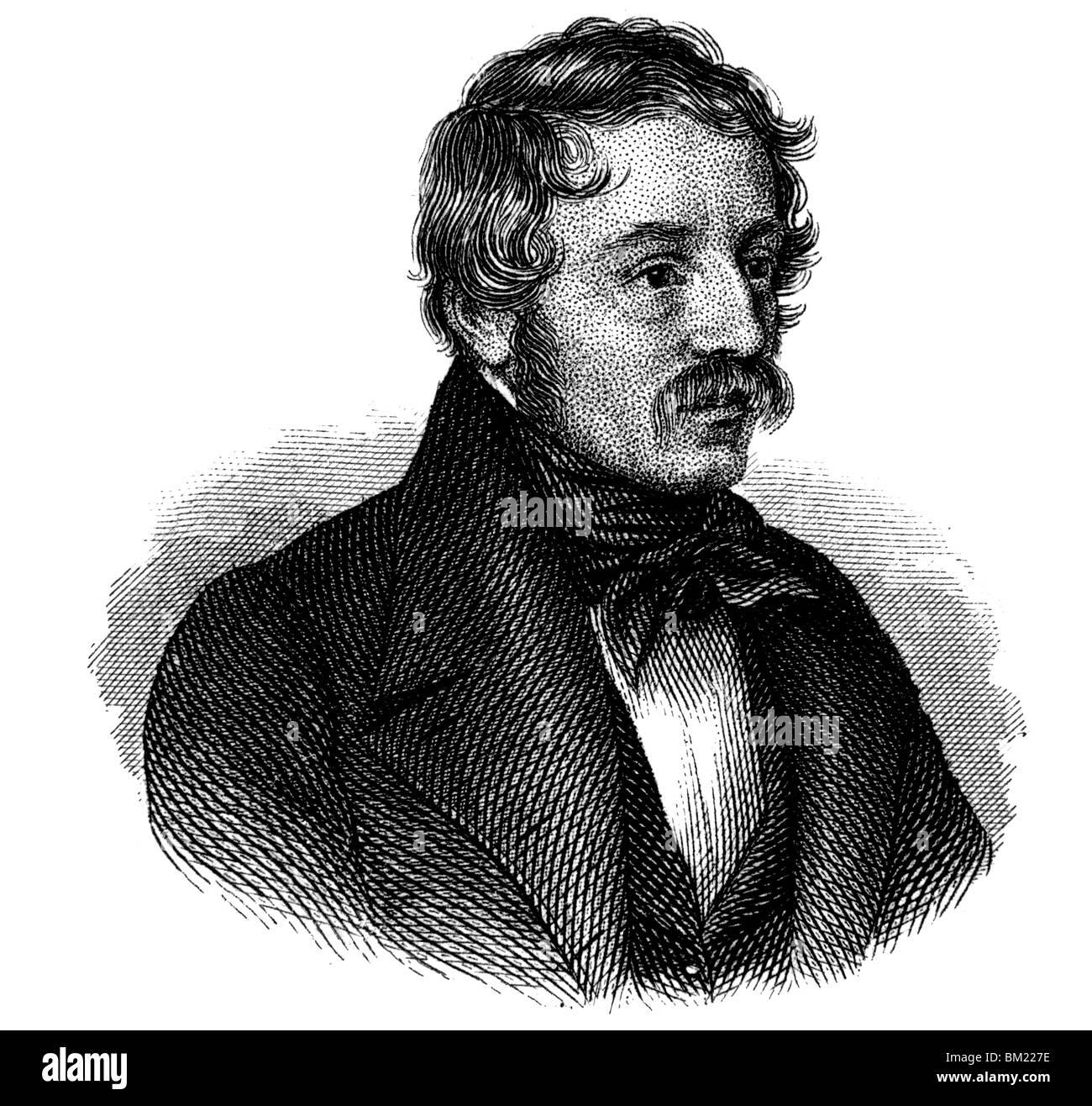 Nikolaus Lenau Stock Photo