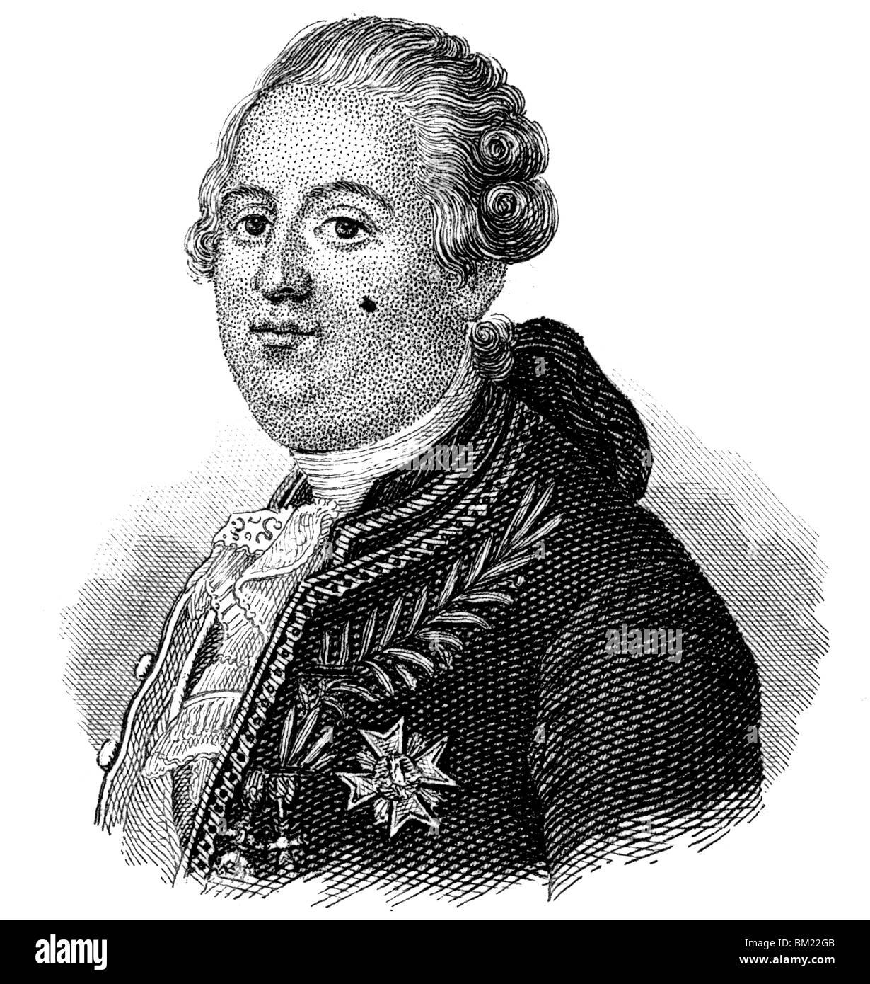 Louis XVI of France - Stock Image