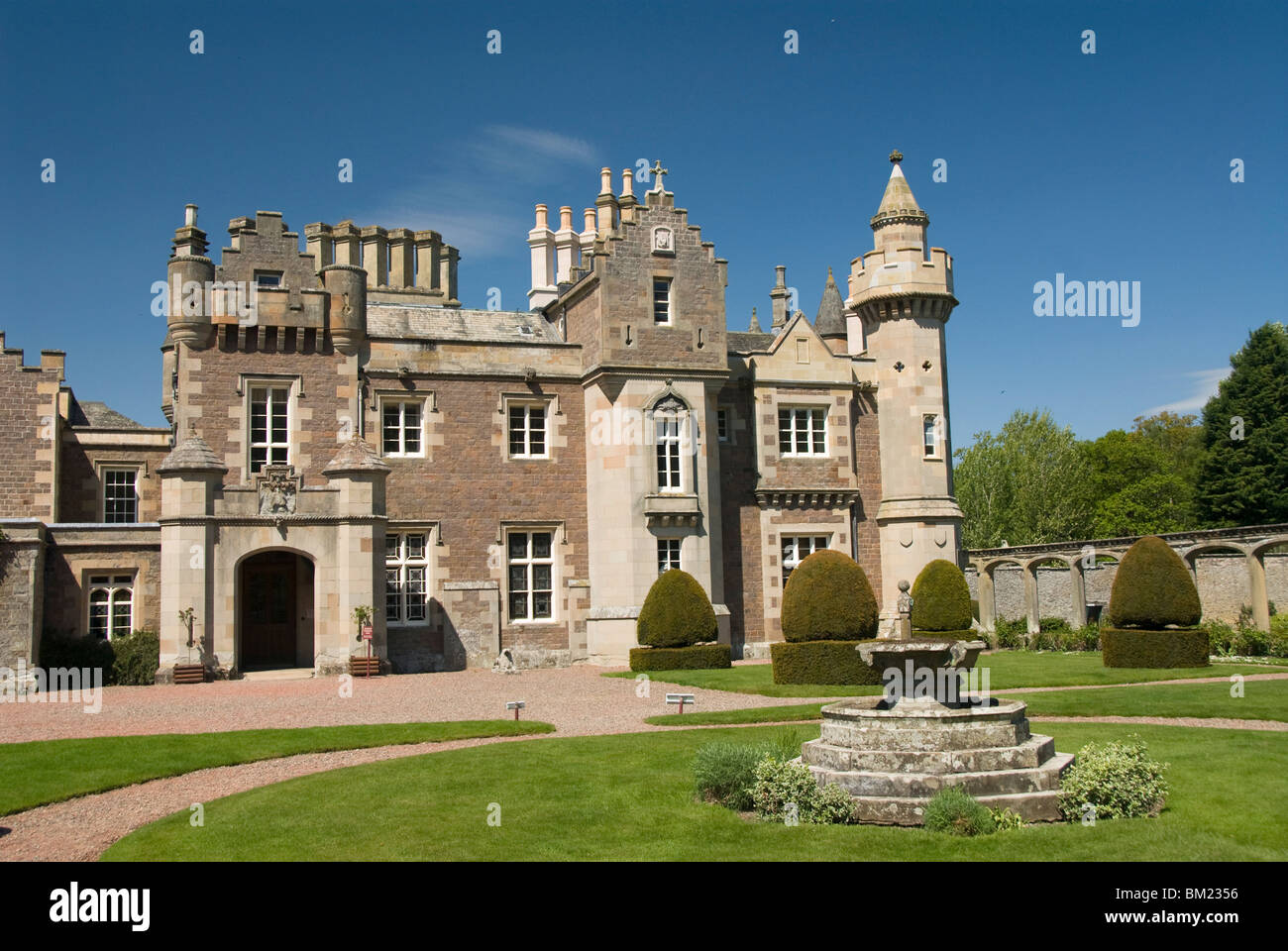Abbotsford, home of Sir Walter Scott from 1812 to 1832, near Melrose, Borders, Scotland, United Kingdom, Europe - Stock Image