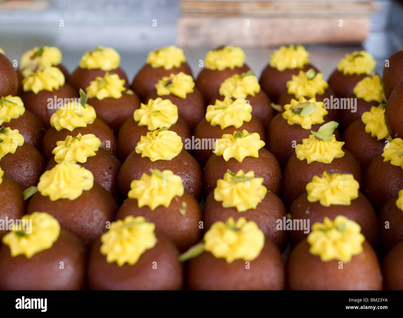 Diwali sweets for sale in Jaipur shop, Rajasthan, India, Asia - Stock Image