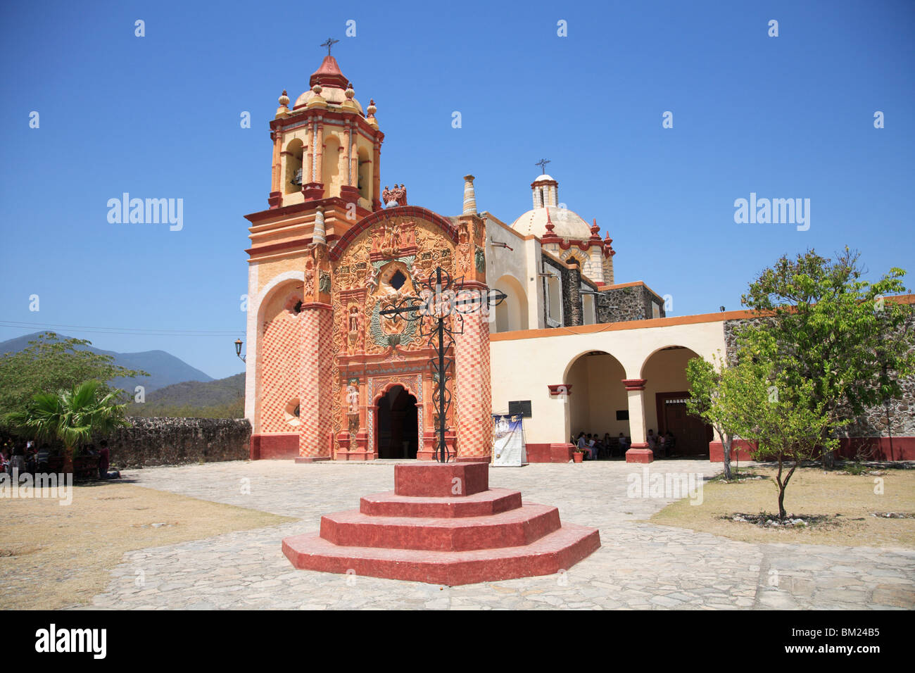 Conca Mission, UNESCO World Heritage Site (designed by Franciscan Fray Junipero Serra), Arroyo Seco, Queretaro, - Stock Image