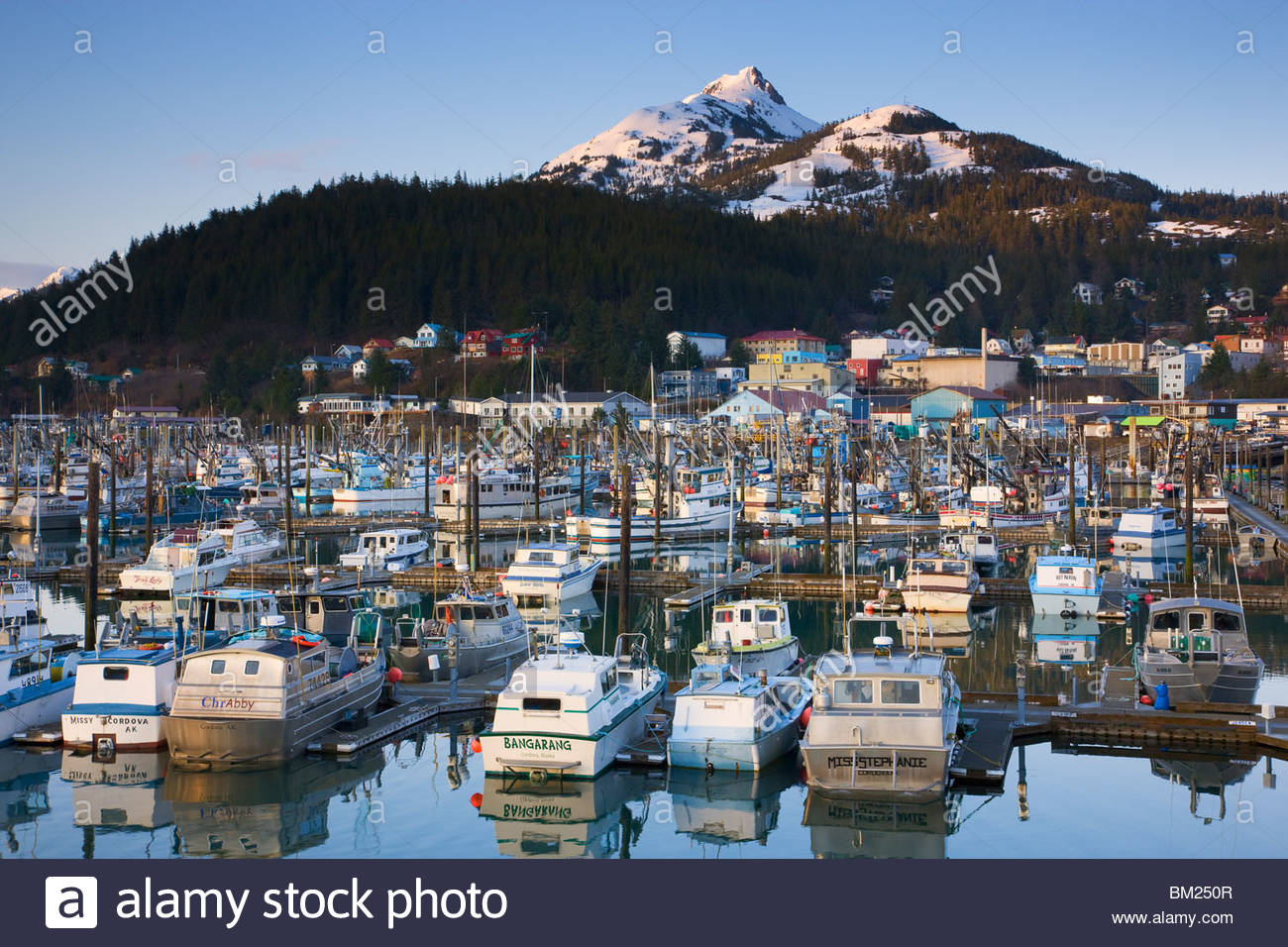 Boat Harbor, Cordova, Alaska. - Stock Image