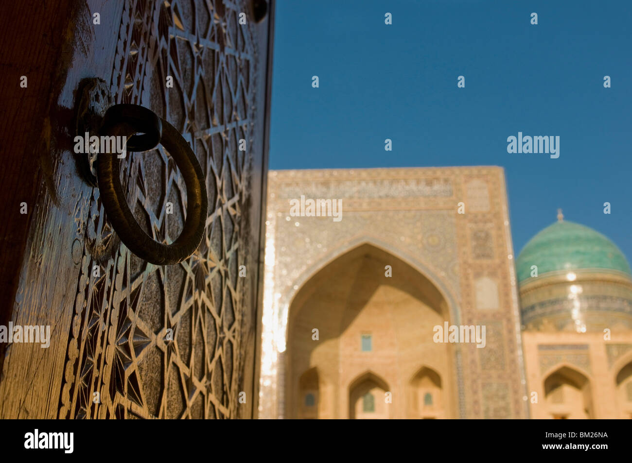 Mir-i-Arab Medressa, UNESCO World Heritage Site, Bukhara, Uzbekistan, Central Asia - Stock Image