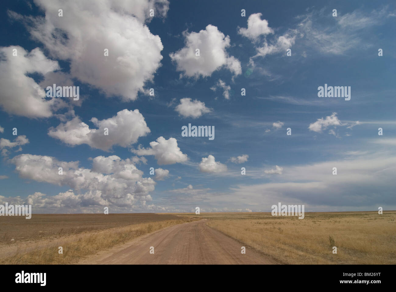 The open wide plains of Kazakhstan, Central Asia - Stock Image