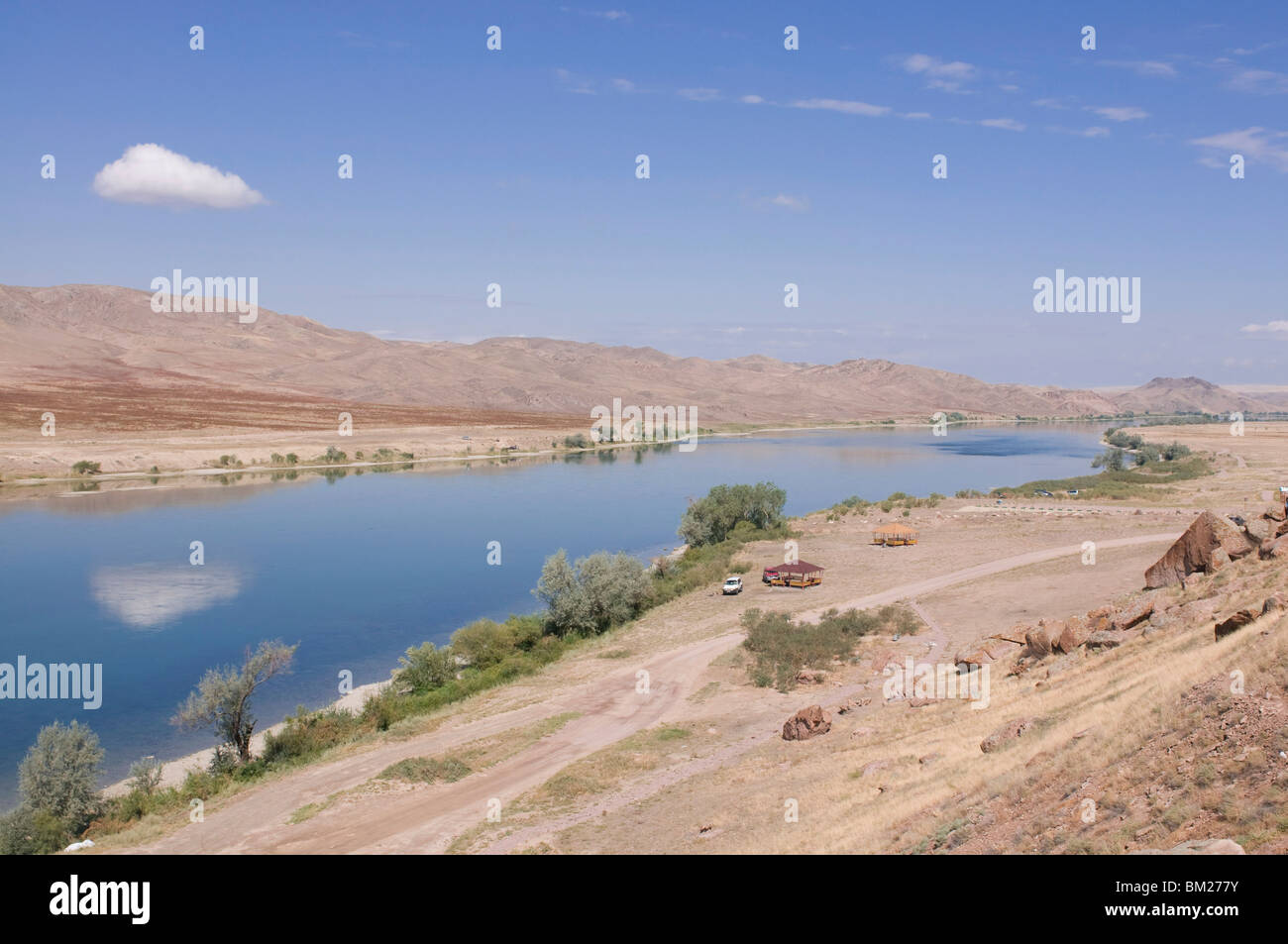 Ily River, Kazakhstan, Central Asia - Stock Image