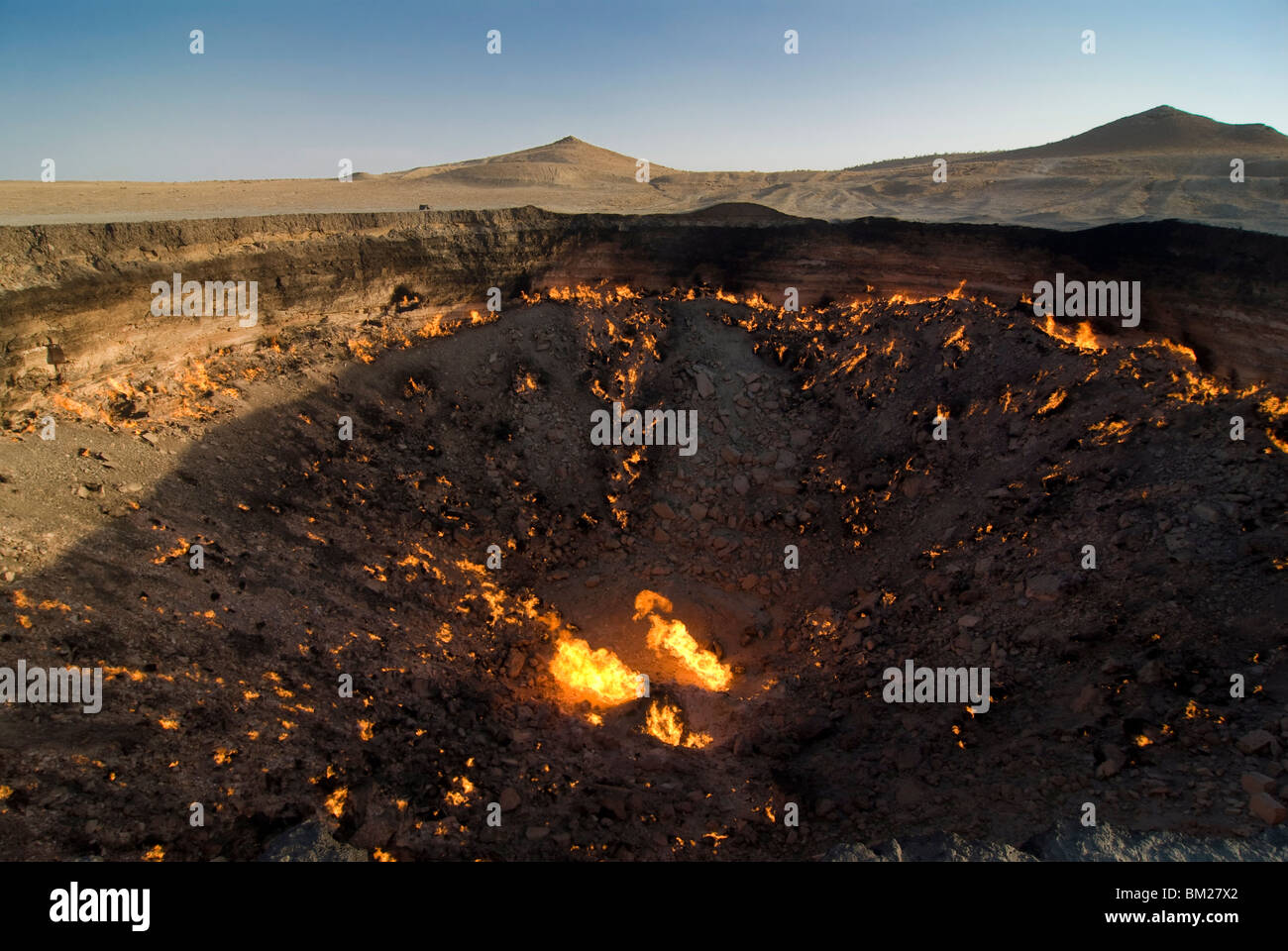Darvaza Gas crater, Turkmenistan, Central Asia, Asia - Stock Image