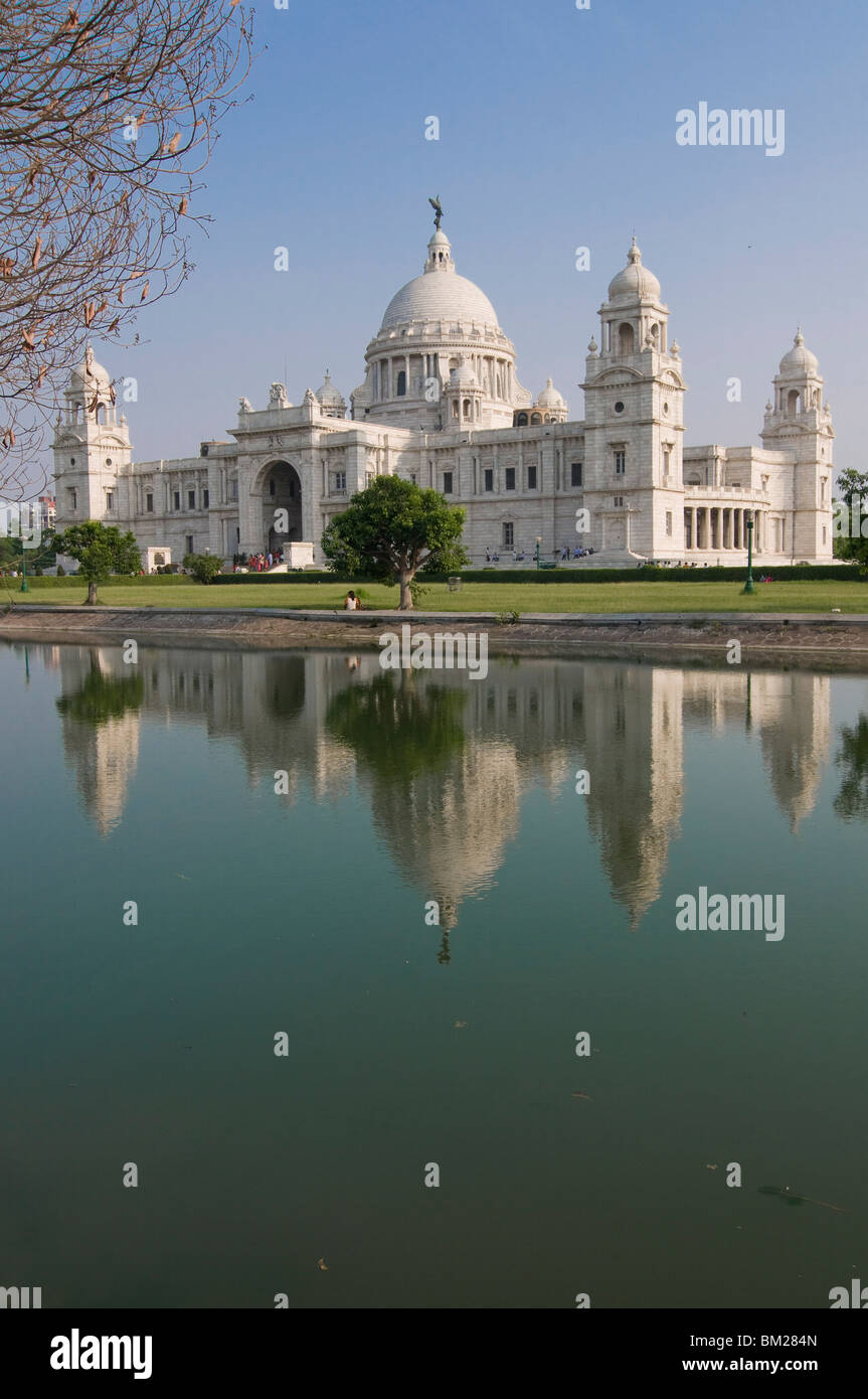 Imposing Victoria Monument, Kolkata, West Bengal, India, Asia - Stock Image