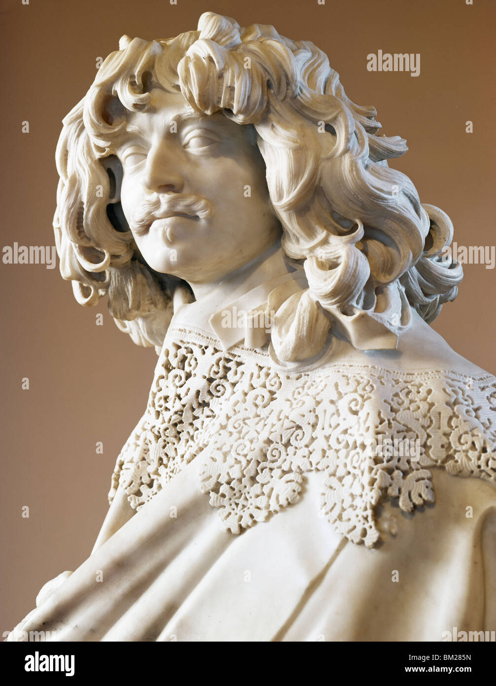 Thomas Baker by Gian Lorenzo Bernini,  marble sculpture,  circa 1638,  (1598-1680) - Stock Image