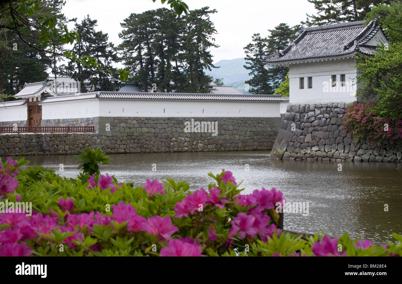 Odawara Castle, a Hojo clan stronghold until destroyed, rebuilt in the 1960s, Japan Stock Photo