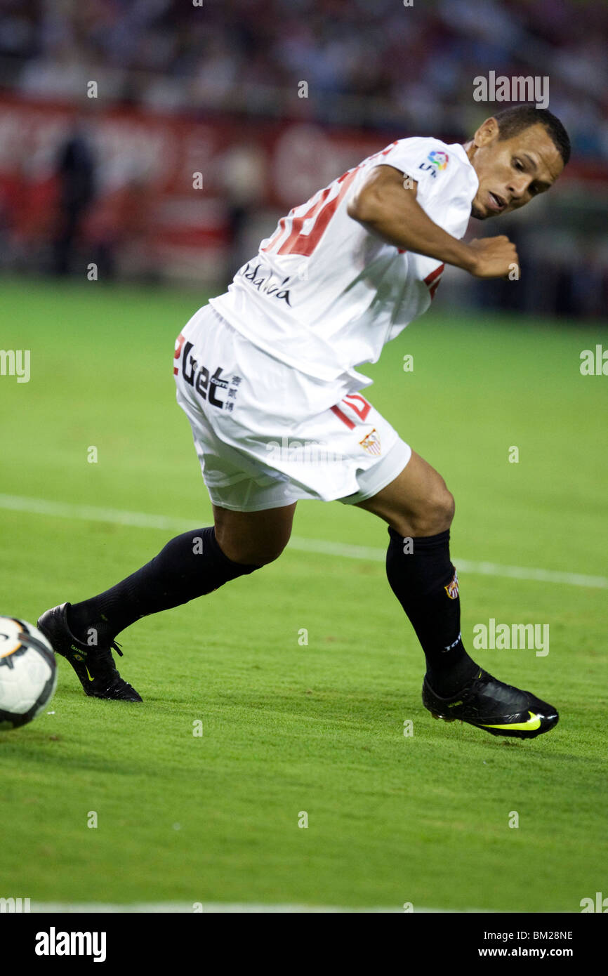 Luis Fabiano. Spanish League game between Sevilla FC and Real Madrid, Sanchez Pizjuan Stadium, Seville, Spain, 4 - Stock Image