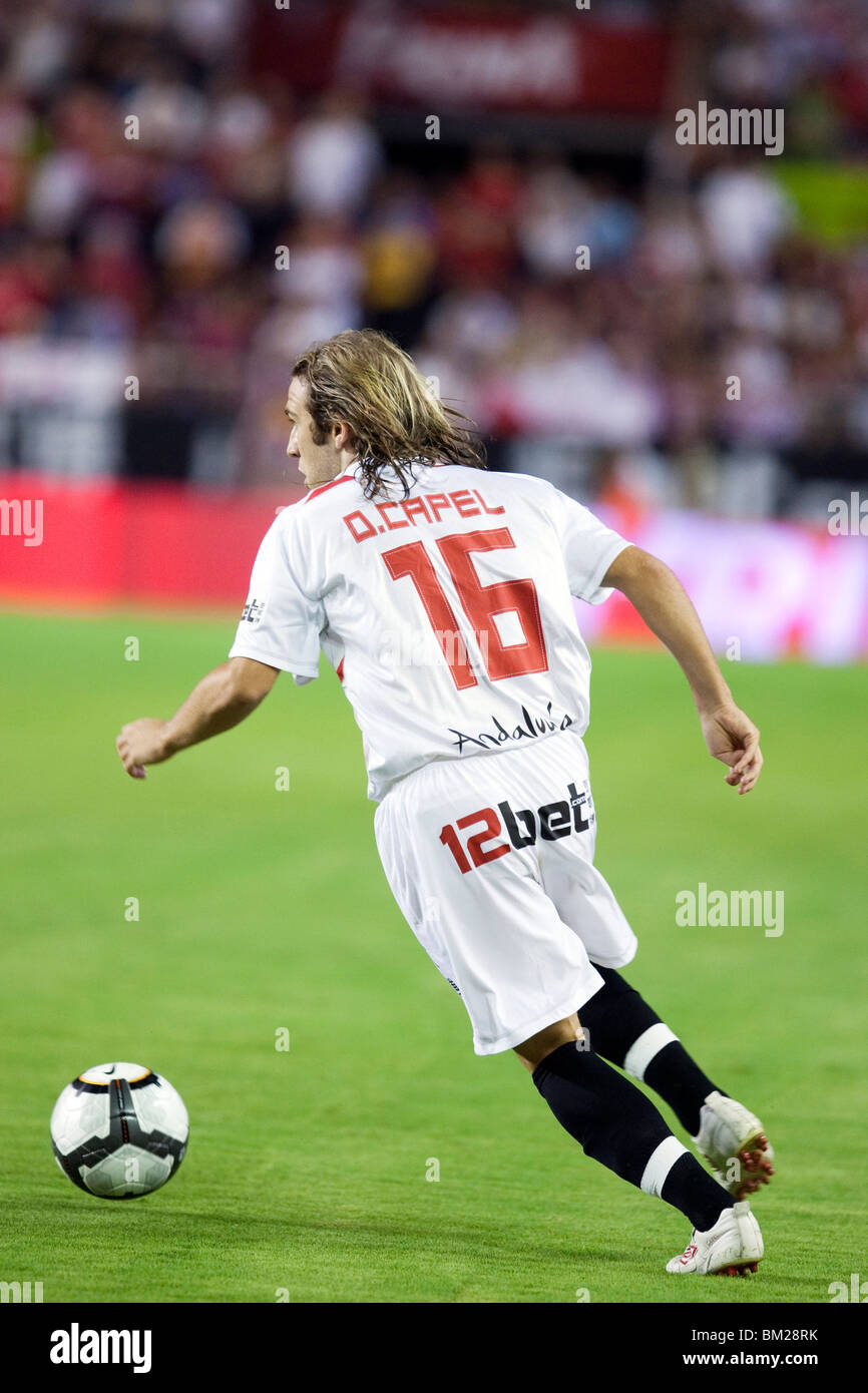 Diego Capel with the ball. - Stock Image