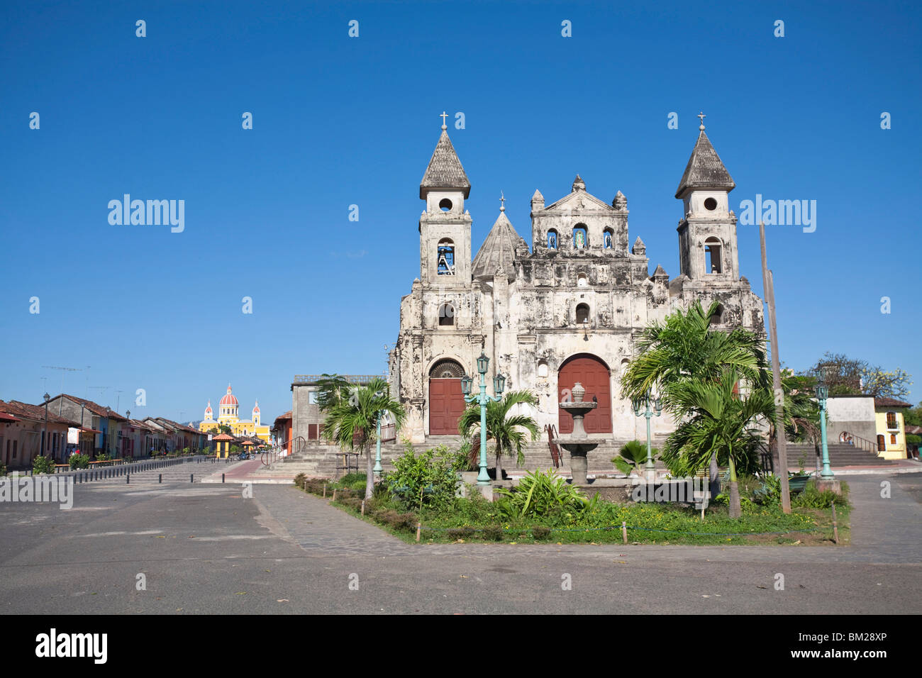 Iglesia de Guadalupe, Granada, Nicaragua Stock Photo