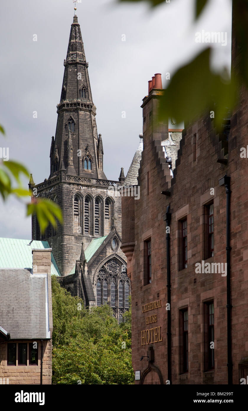Spire of St. Mungo's Cathedral, Glasgow, Scotland, UK - Stock Image