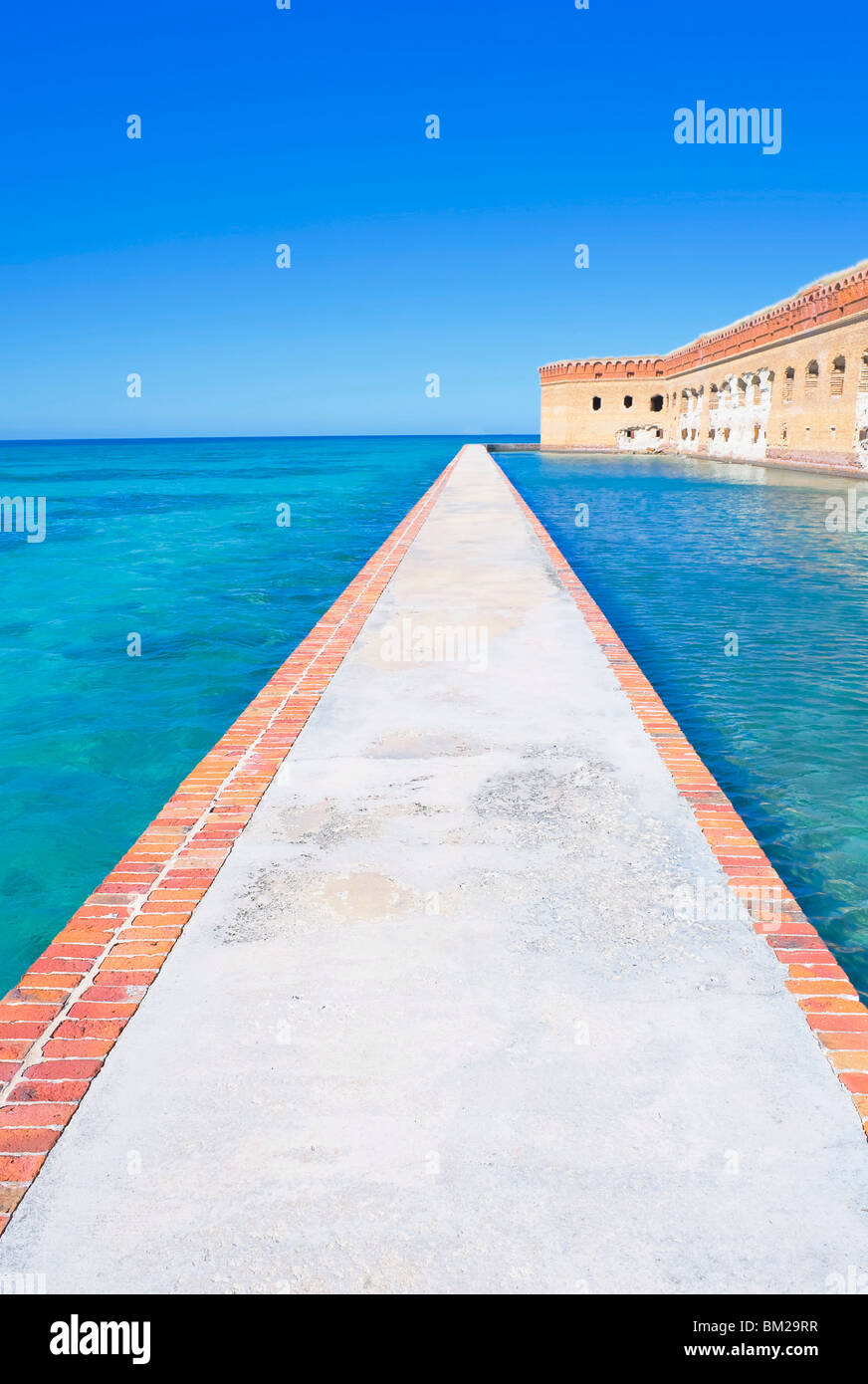 Passageway, Fort Jefferson, Dry Tortugas National Park, Florida, USA - Stock Image