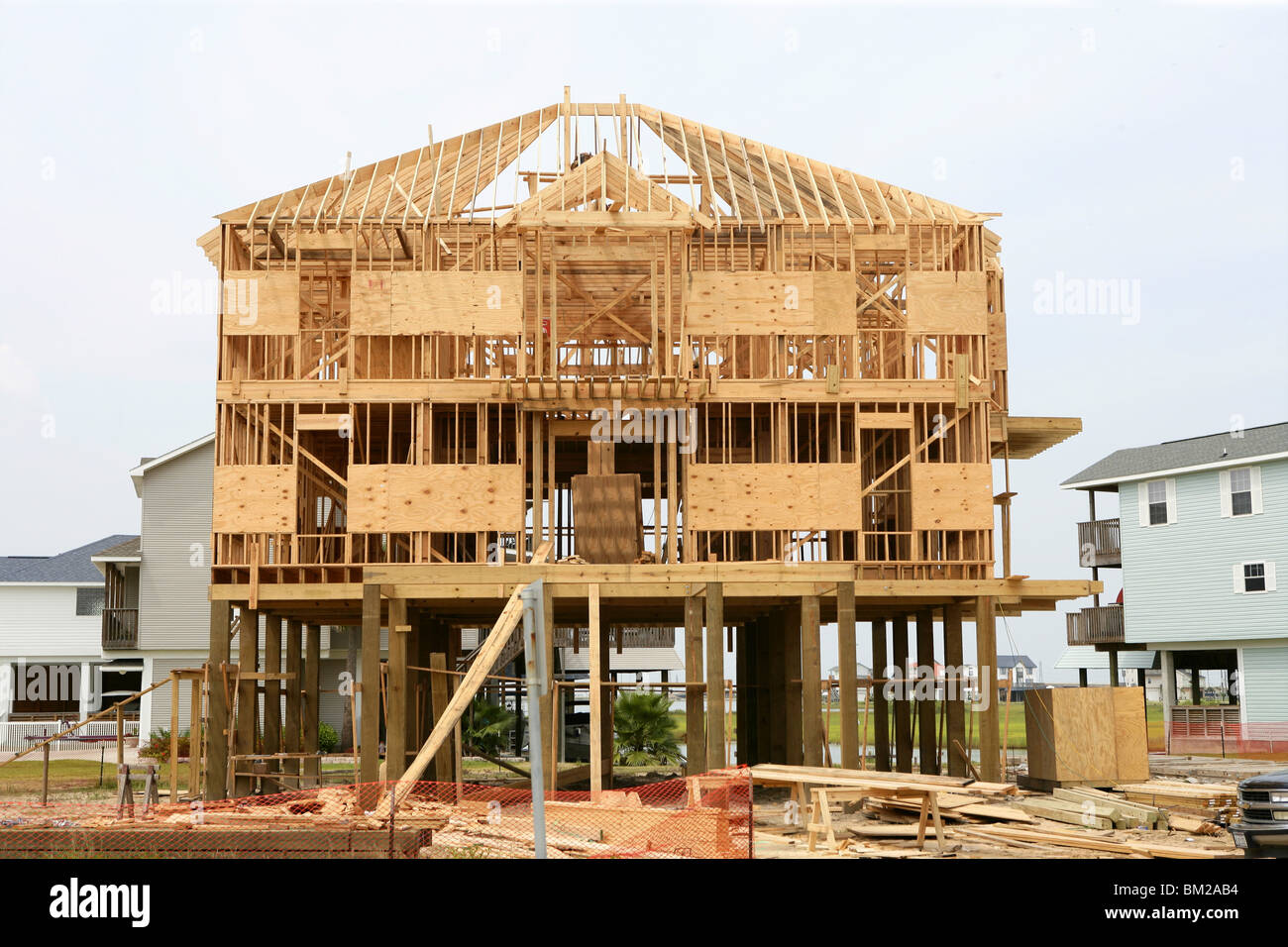 Attractive Wood House Contruction, American Wooden Build Structure