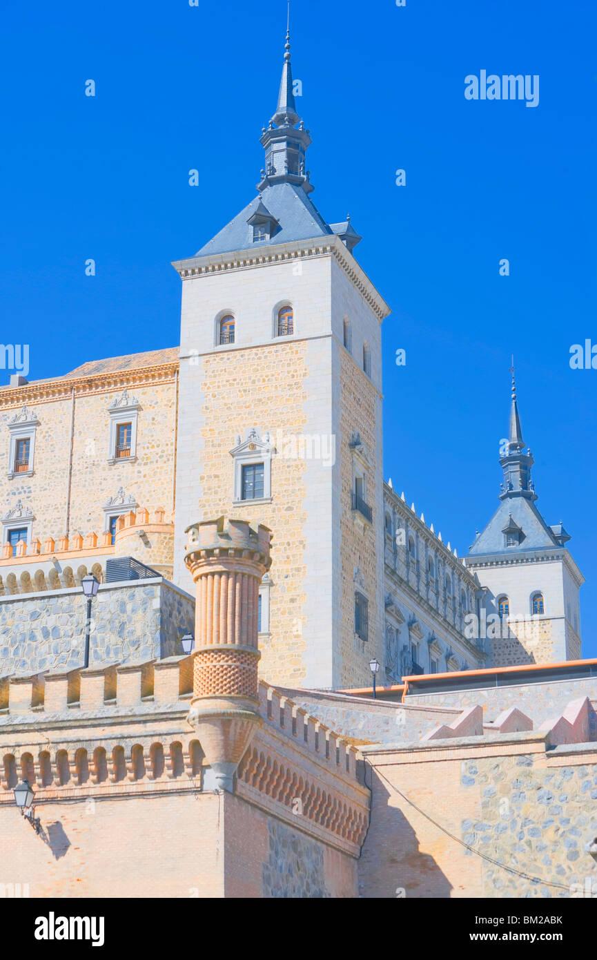 The Alcazar, Toledo, UNESCO World Heritage Site, Castilla La Mancha, Spain - Stock Image