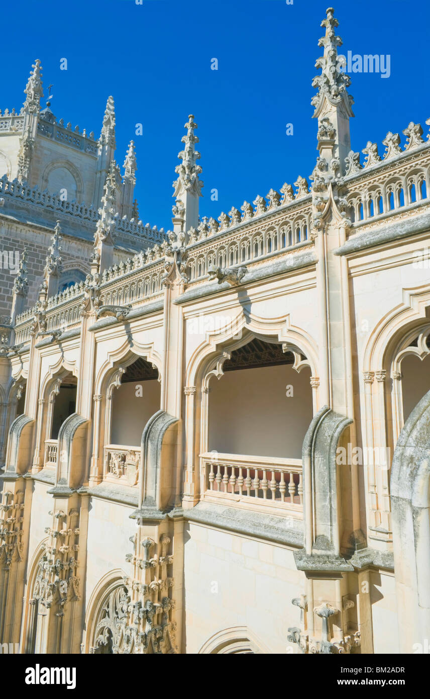 San Juan de los Reyes monastery, Toledo, UNESCO World Heritage Site, Castilla La Mancha, Spain - Stock Image