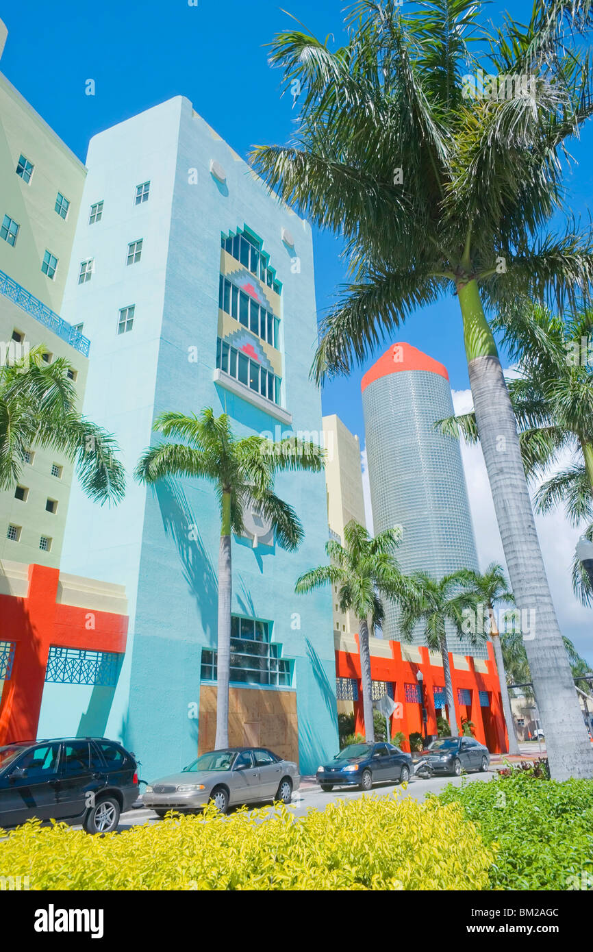 art deco buildings south beach miami florida usa stock photo